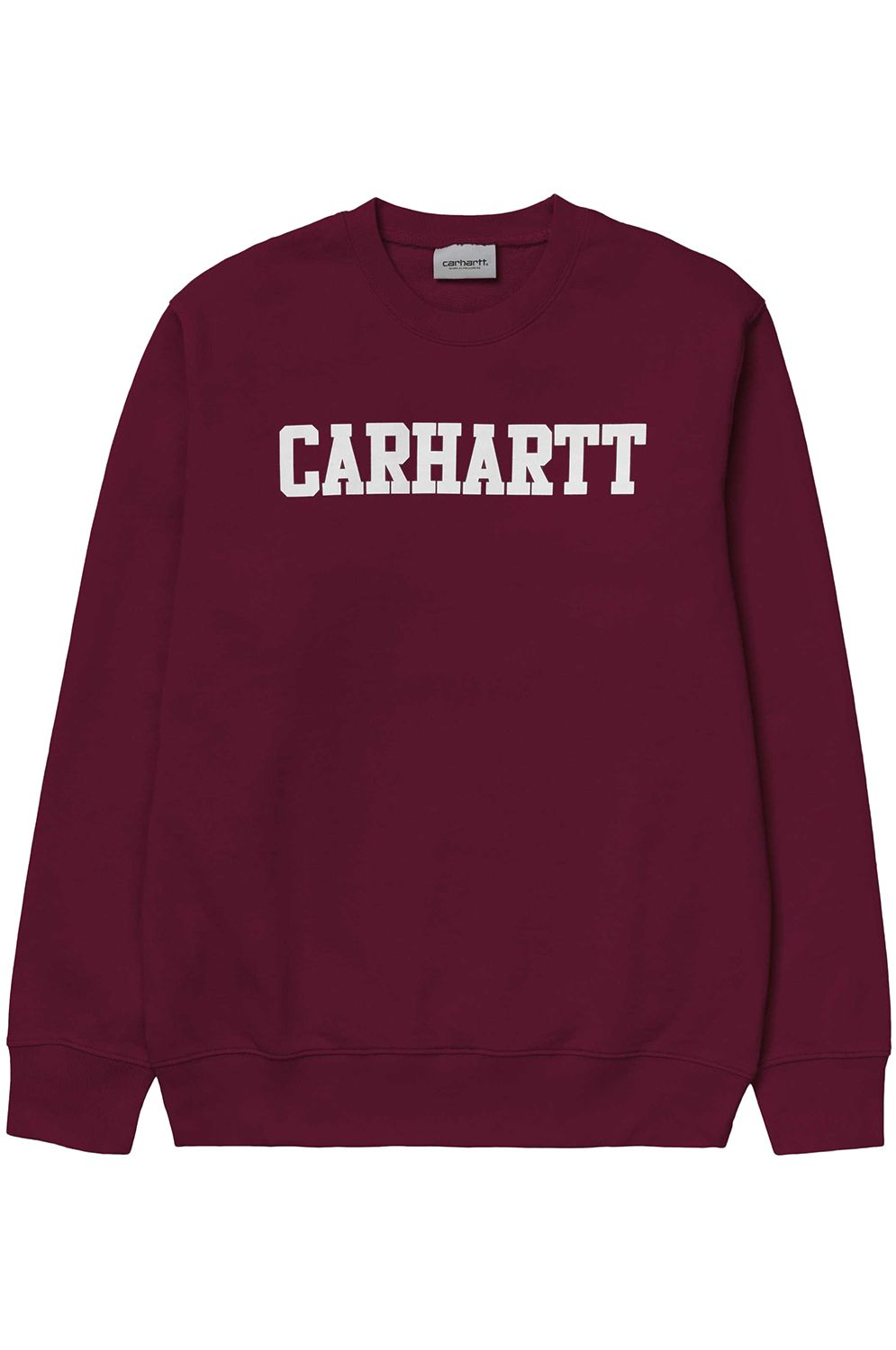 Sweat Basica Carhartt WIP COLLEGE BAM LIMITED EDITION SERIES  Cranberry White ... 55dab2b1284