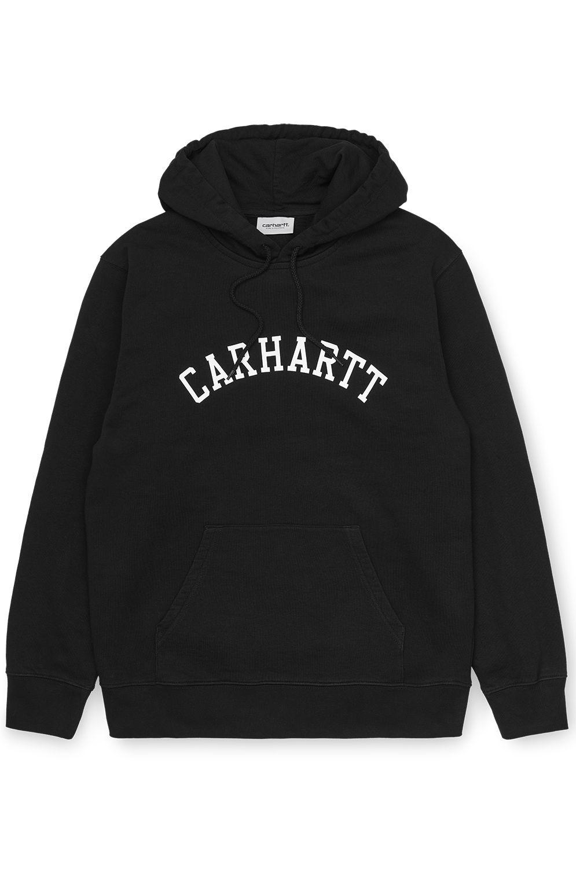 Carhartt WIP Sweat Hood HOODED UNIVERSITY SWEATSHIRT Black/White