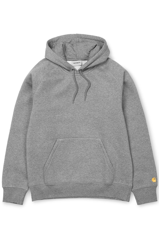 Carhartt WIP Sweat Hood HOODED CHASE Grey Heather/Gold