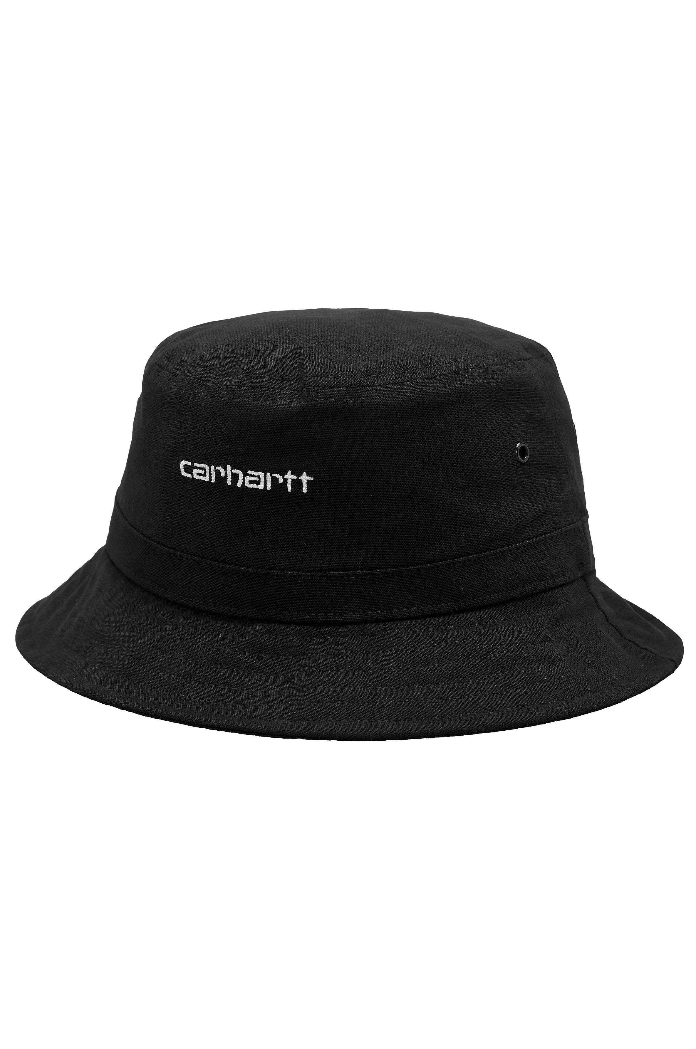 Chapeu Carhartt WIP SCRIPT BUCKET Black/White