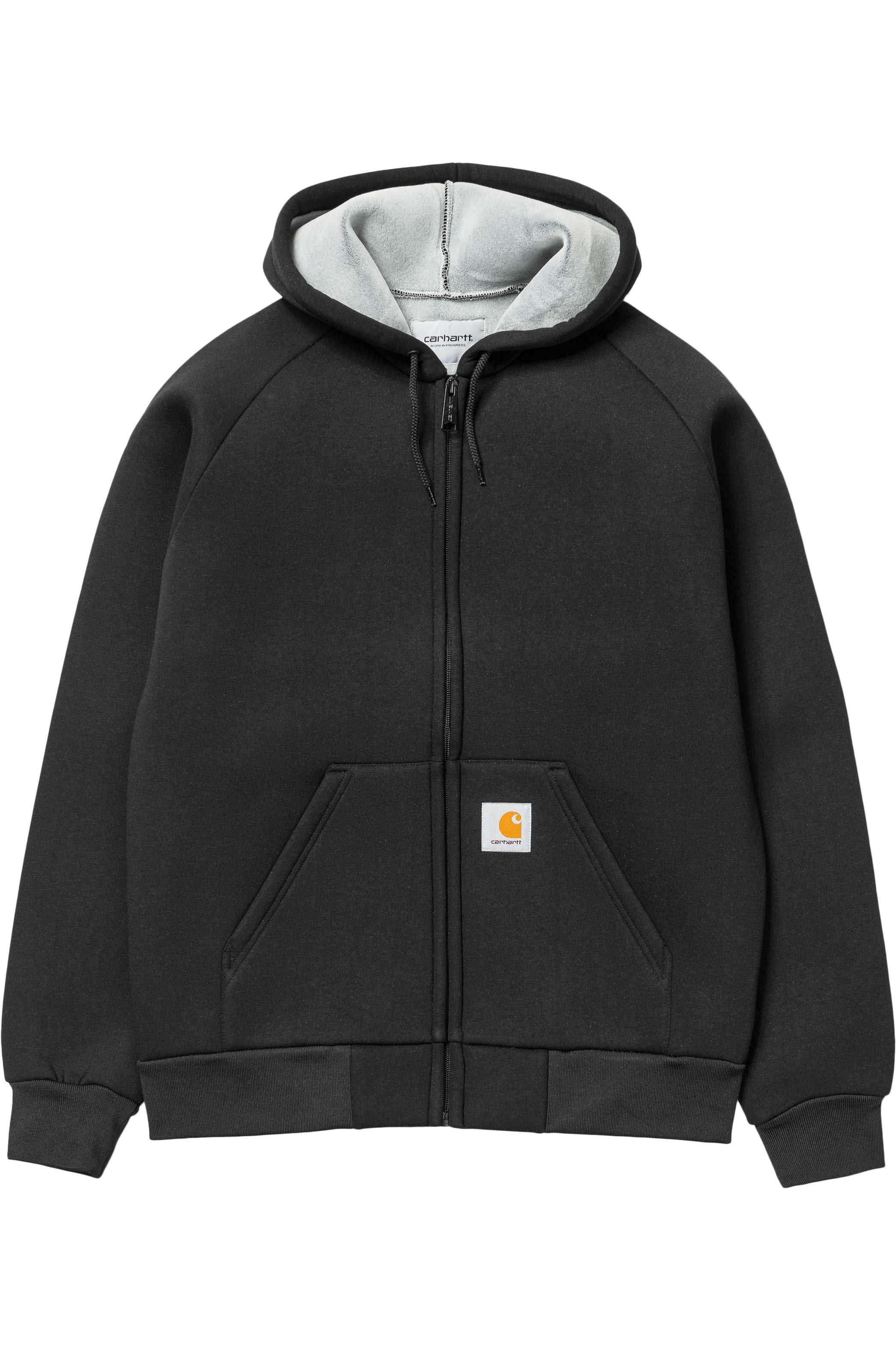 Carhartt WIP Coat CAR-LUX HOODED Black/Grey