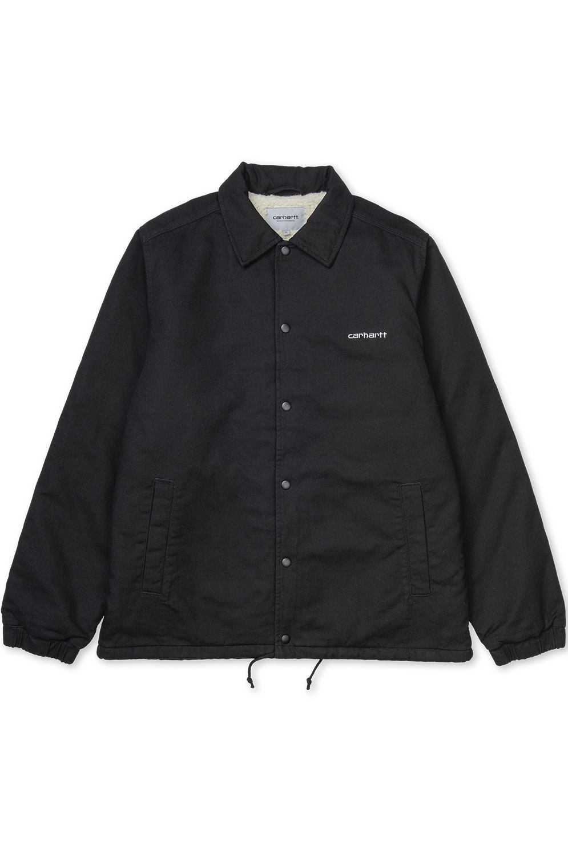 Carhartt WIP Jacket CANVAS Black/White Stone Washed