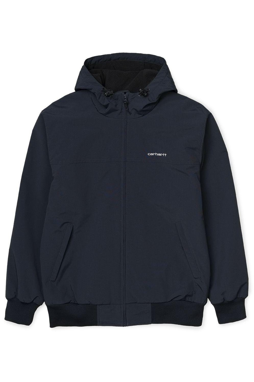 Carhartt WIP Jacket HOODED SAIL JACKET Dark Navy/White