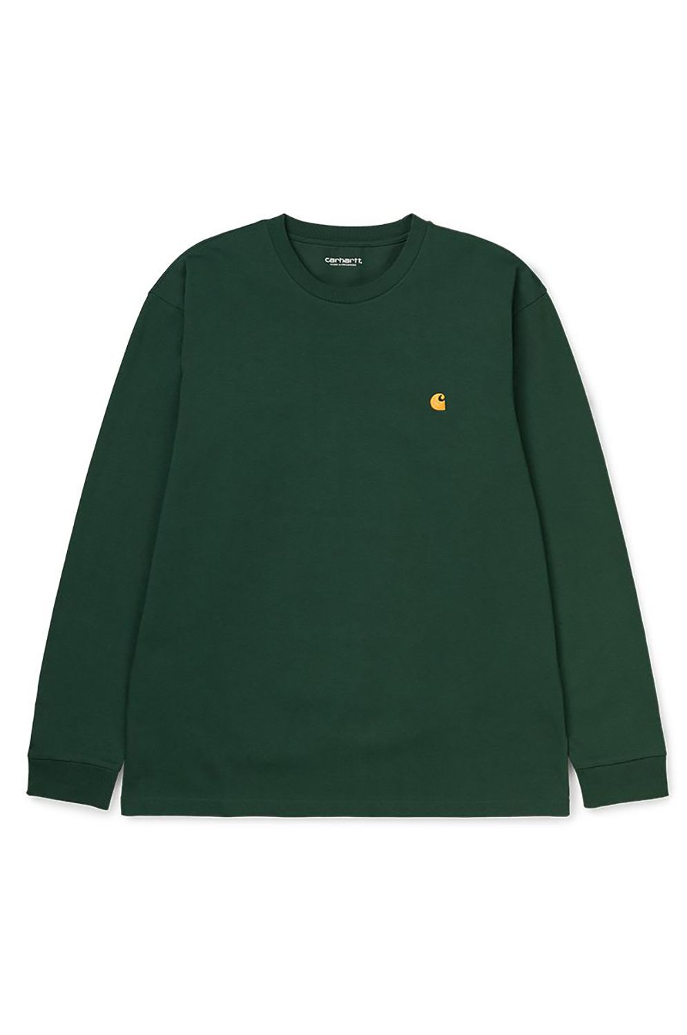 Carhartt WIP L-Sleeve L/S CHASE T-SHIRT Bottle Green/Gold