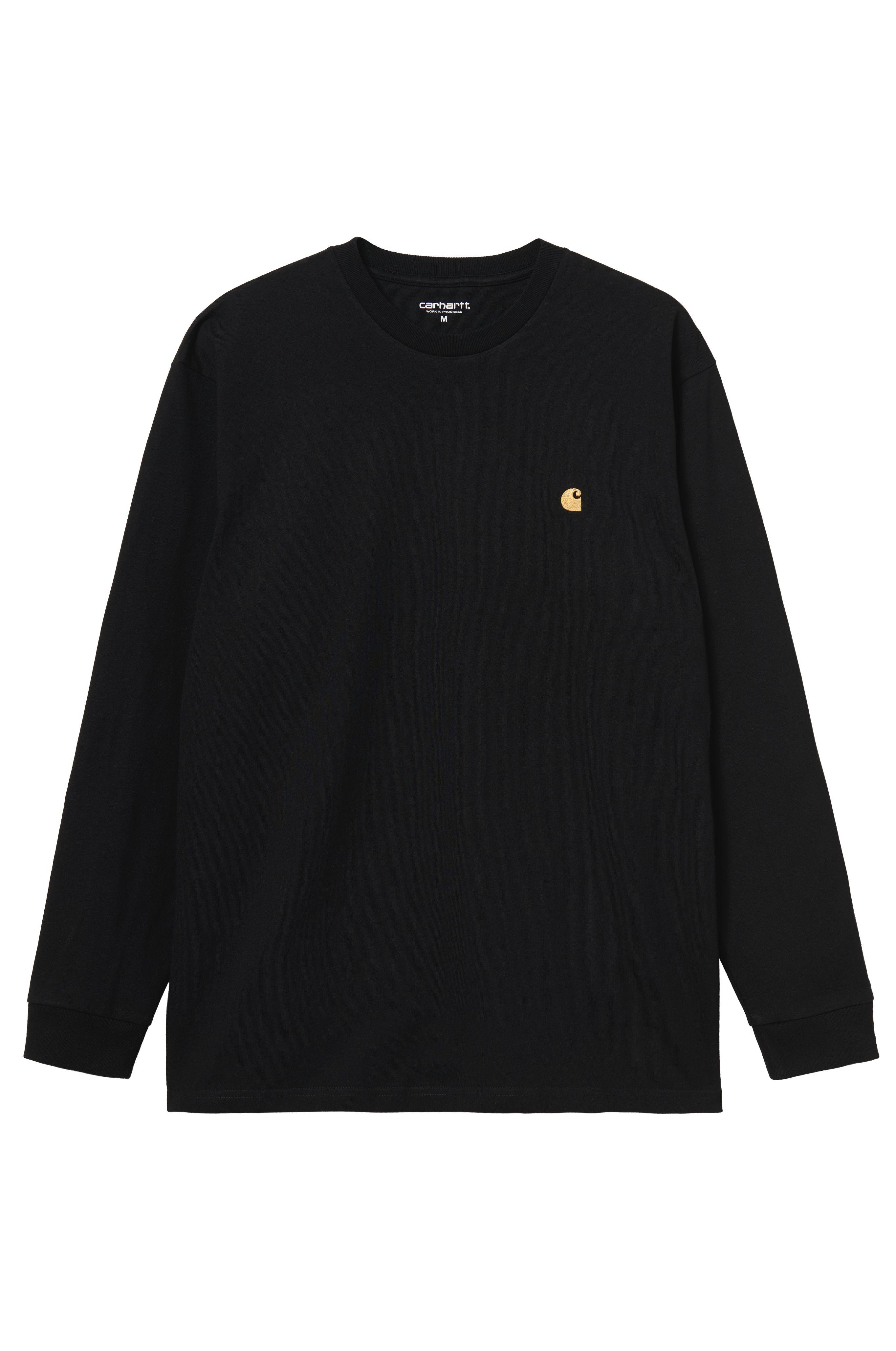 L-Sleeve Carhartt WIP CHASE Black/Gold