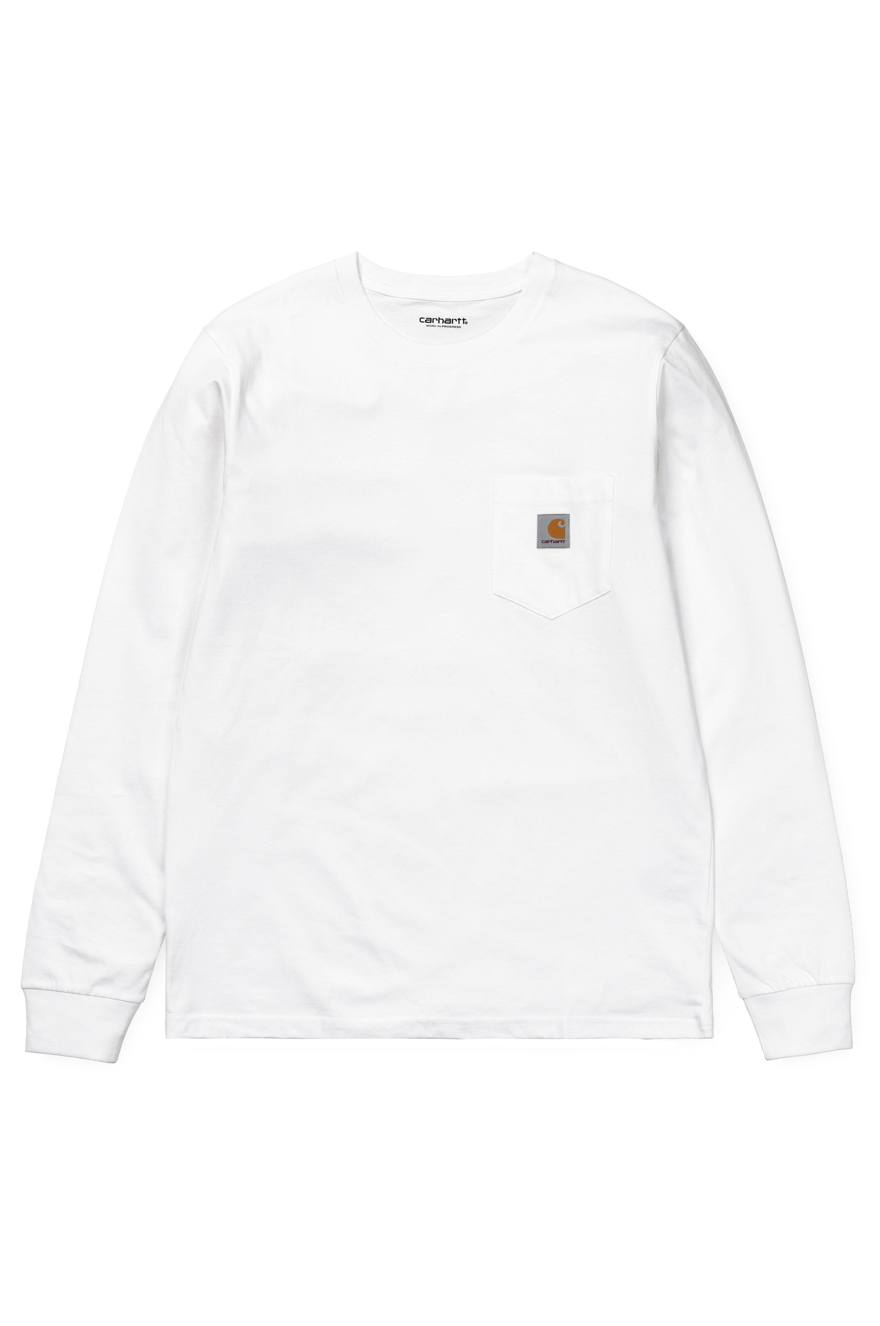 L-Sleeve Carhartt WIP POCKET White