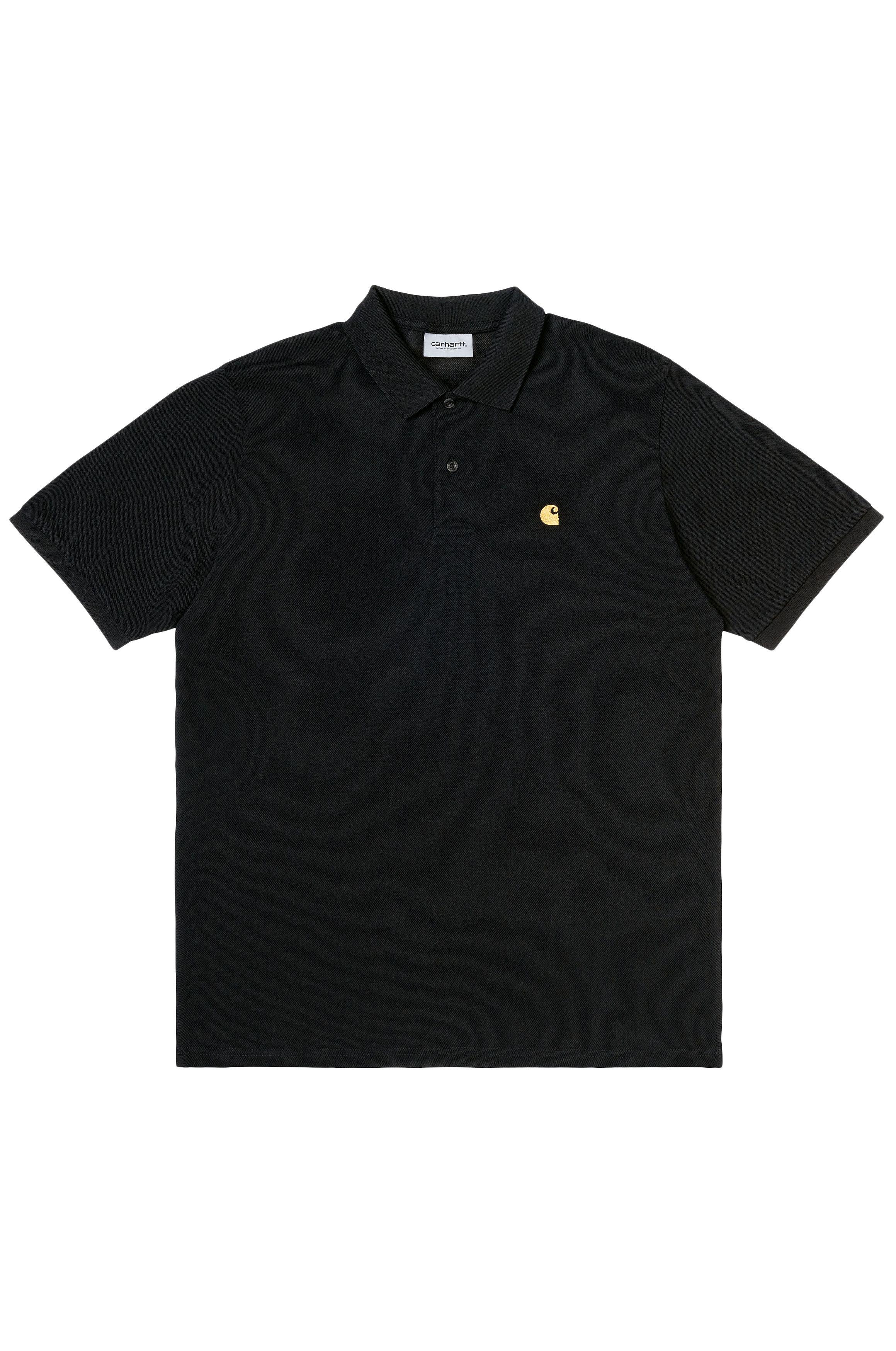 Carhartt WIP Polo    S/S CHASE PIQUE POLO Black/Gold