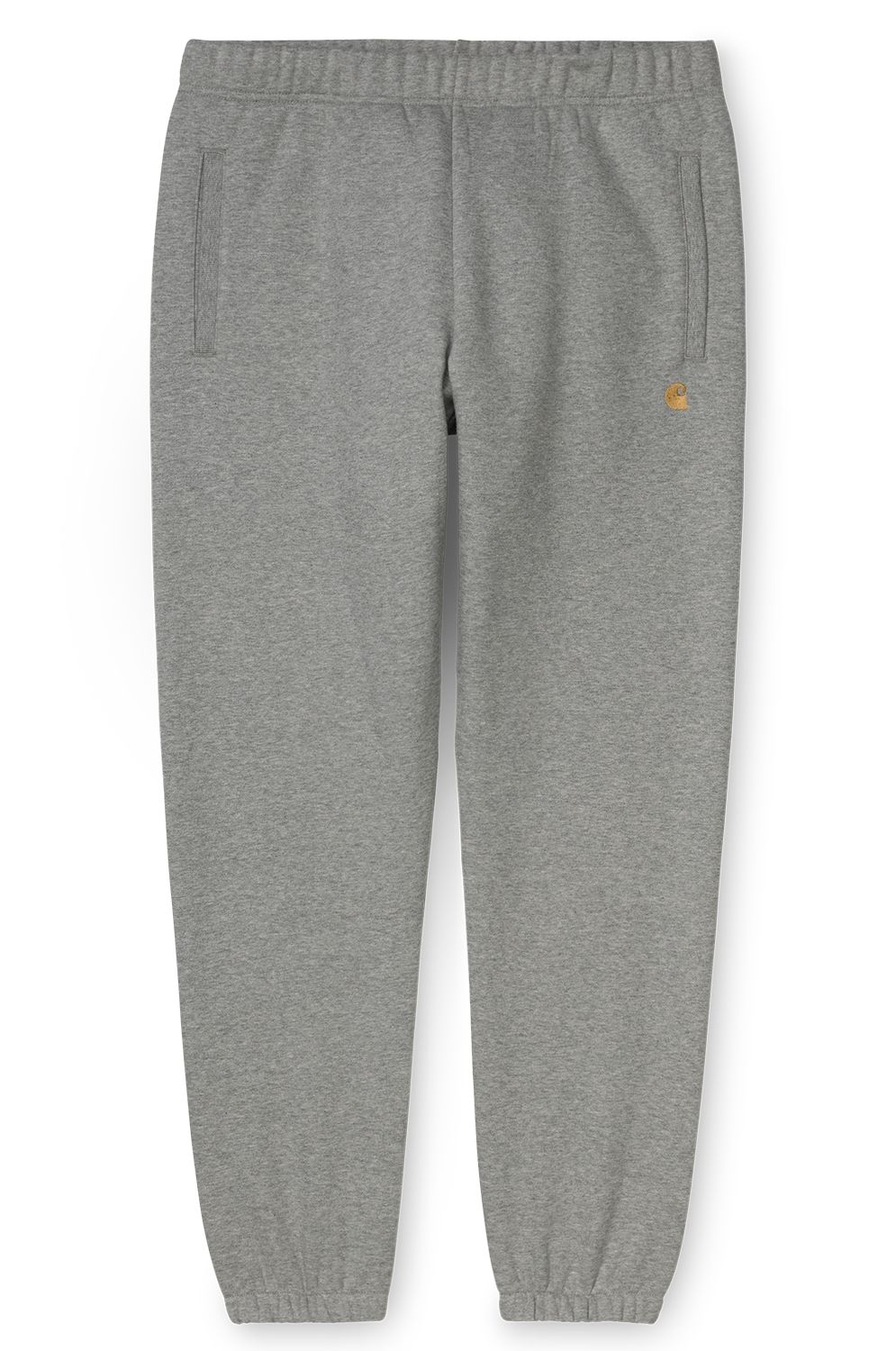 Carhartt WIP Pants CHASE SWEAT PANT Grey Heather/Gold