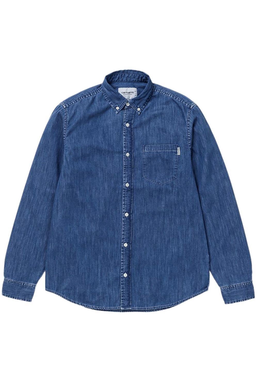 Camisa Carhartt WIP CIVIL L/S Blue Stone Washed