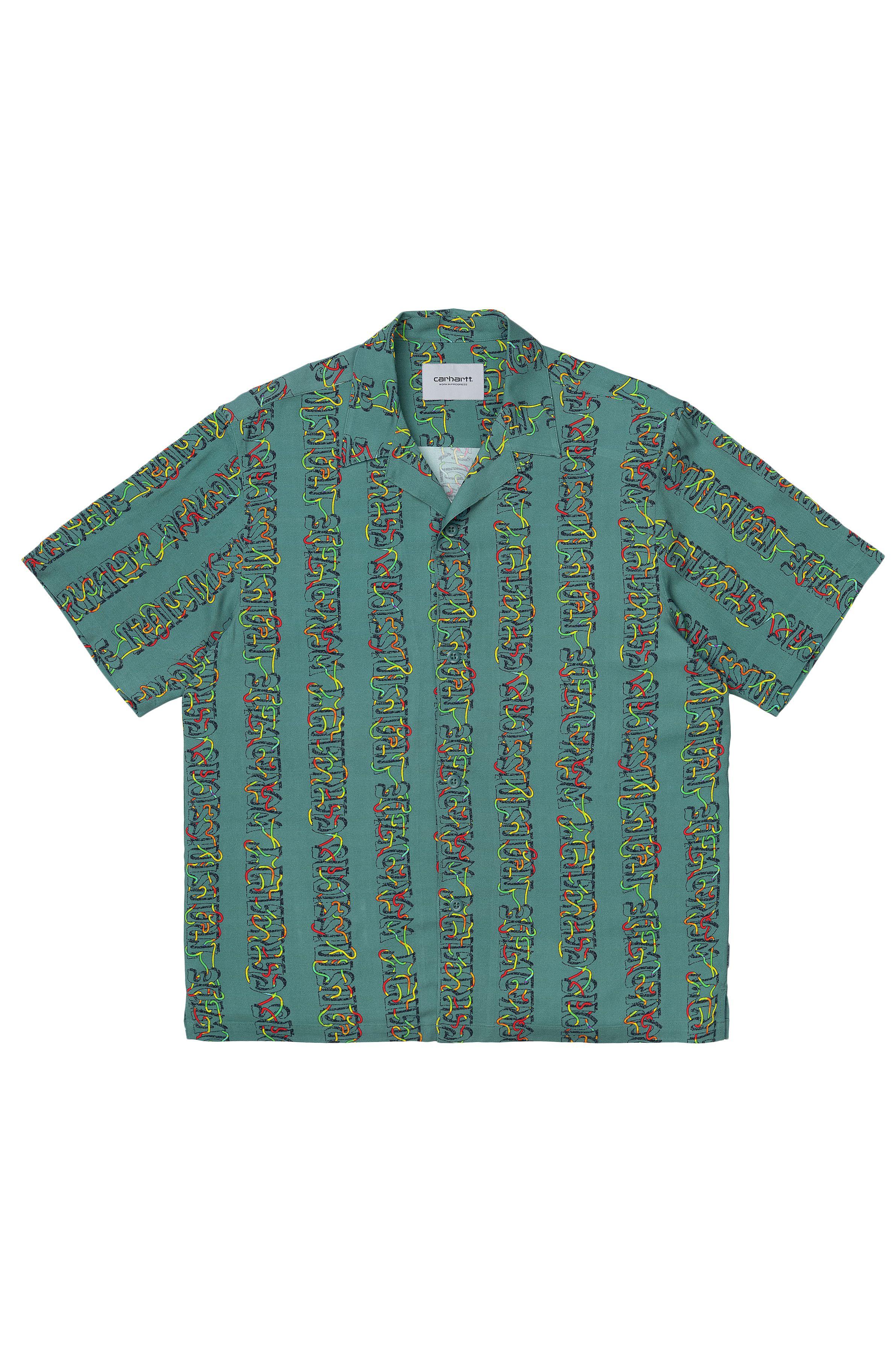 Carhartt WIP Shirt S/S TRANSMISSION SHIRT Transmission Print, Hydro