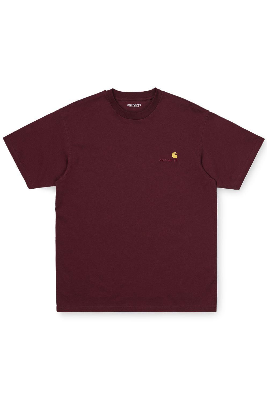 Carhartt WIP T-Shirt S/S AMERICAN SCRIPT T-SHIRT Bordeaux