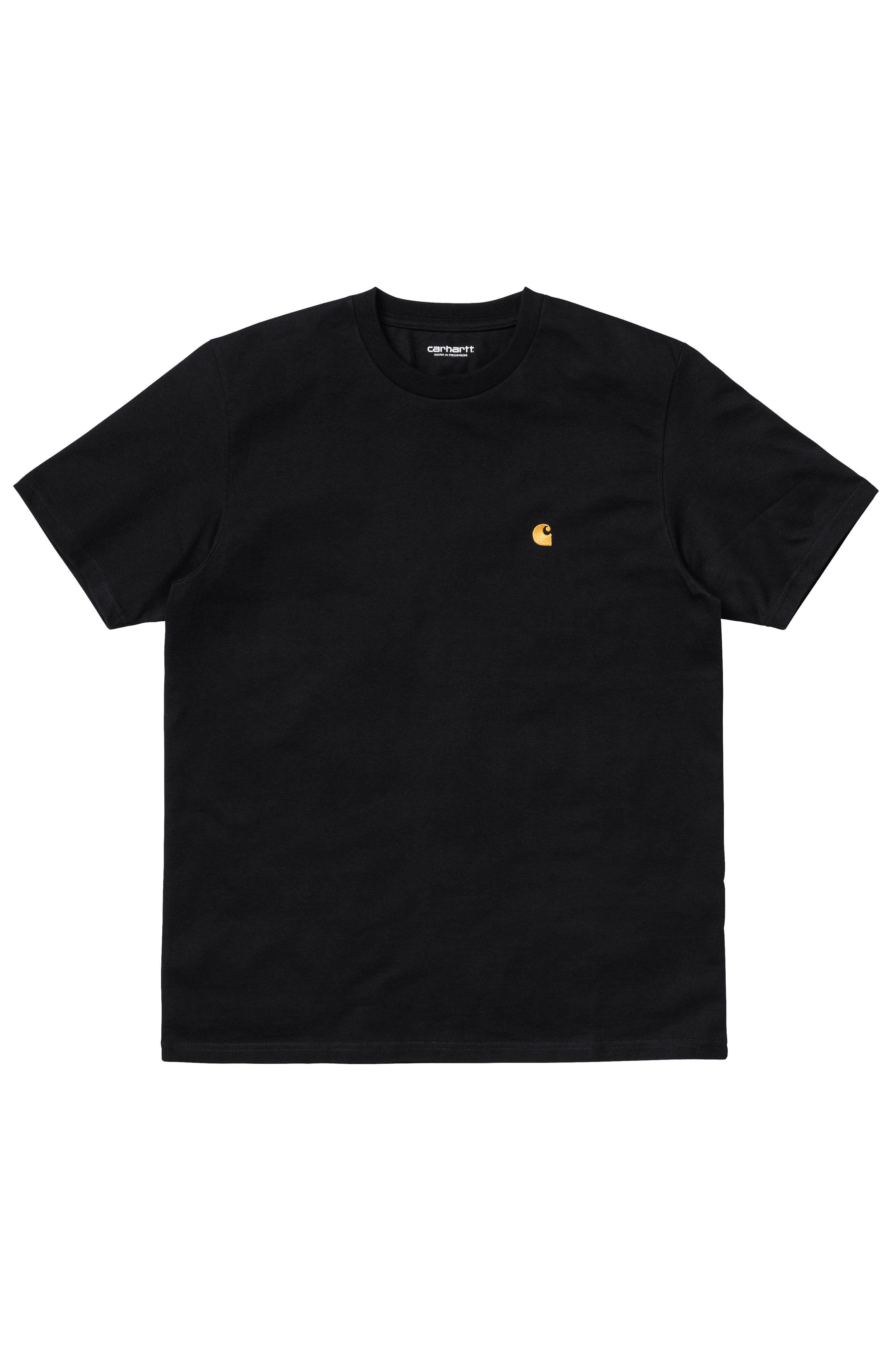 T-Shirt Carhartt WIP CHASE Black/Gold