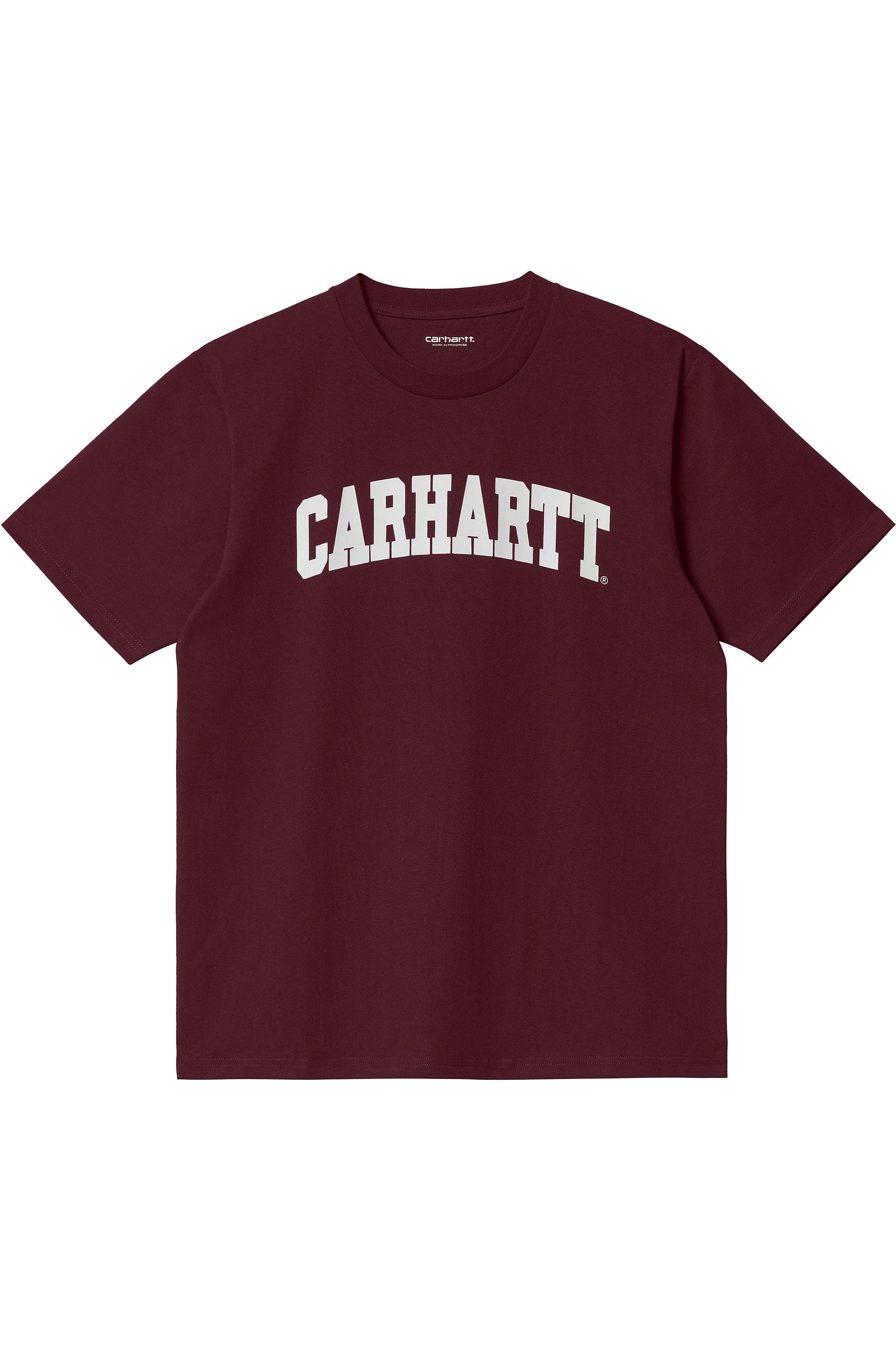 T-Shirt Carhartt WIP UNIVERSITY Wine/White