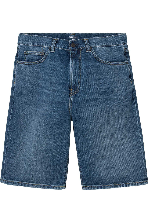 Walkshorts Carhartt WIP PONTIAC Blue Mid Worn Wash
