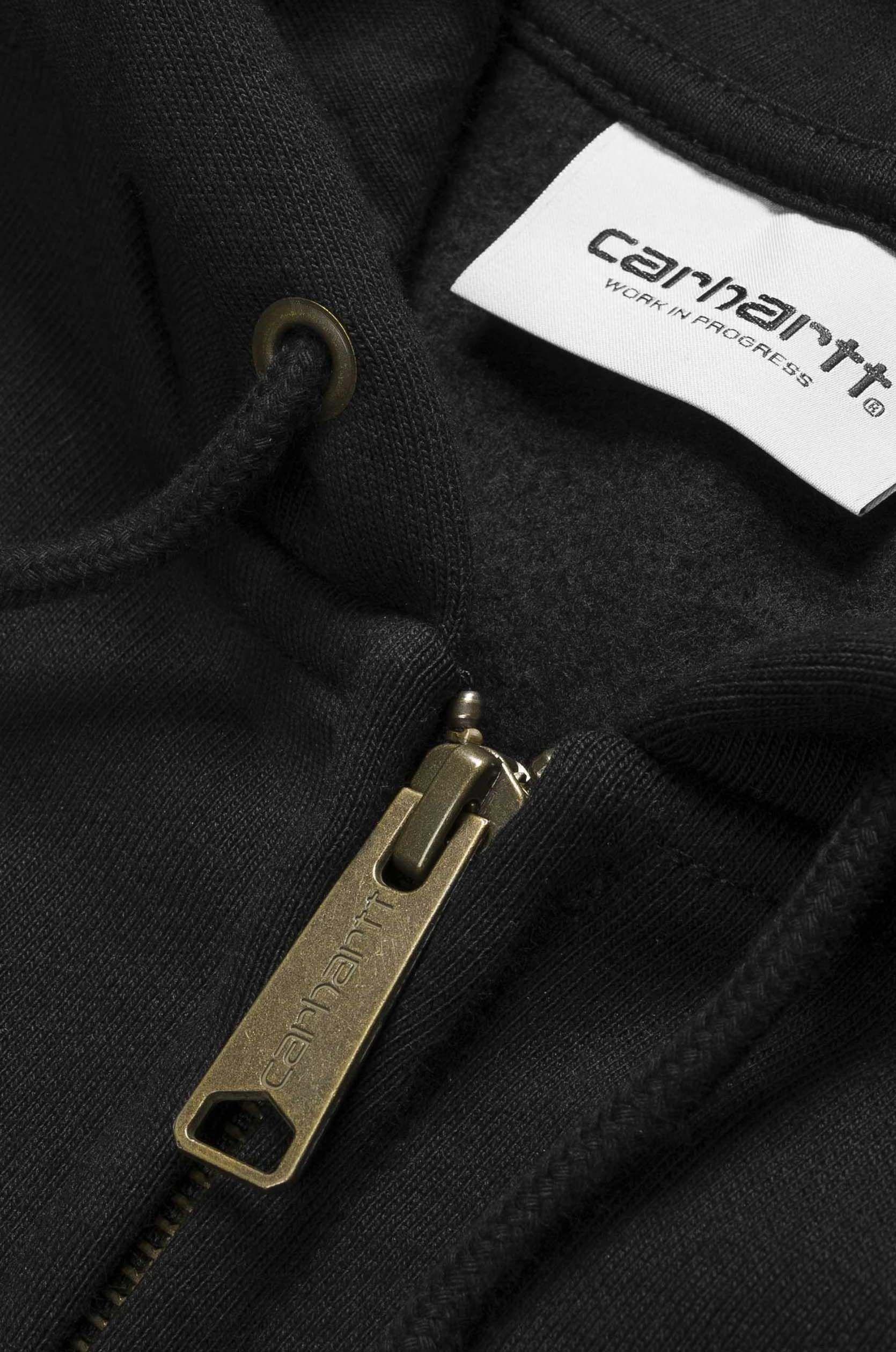 Carhartt WIP Sweat Zip Hood HOODED CHASE Black/Gold