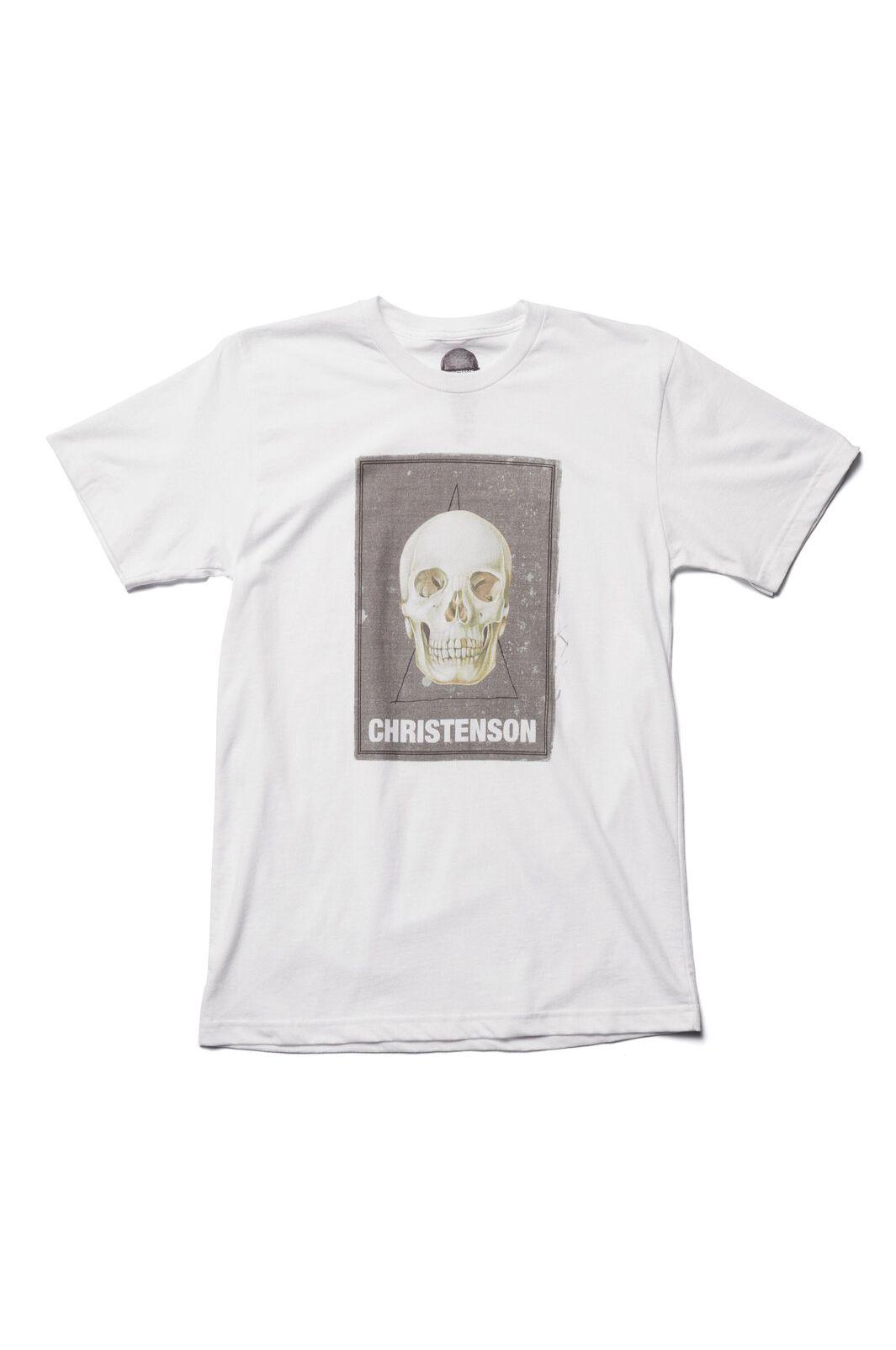 Chris Christenson T-Shirt CIGAR BOX SKULL White