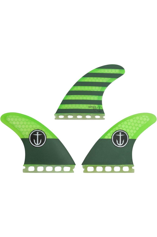 Quilha Captain Fin 1-TAB CF THRUSTER GREEN Tri Futures M