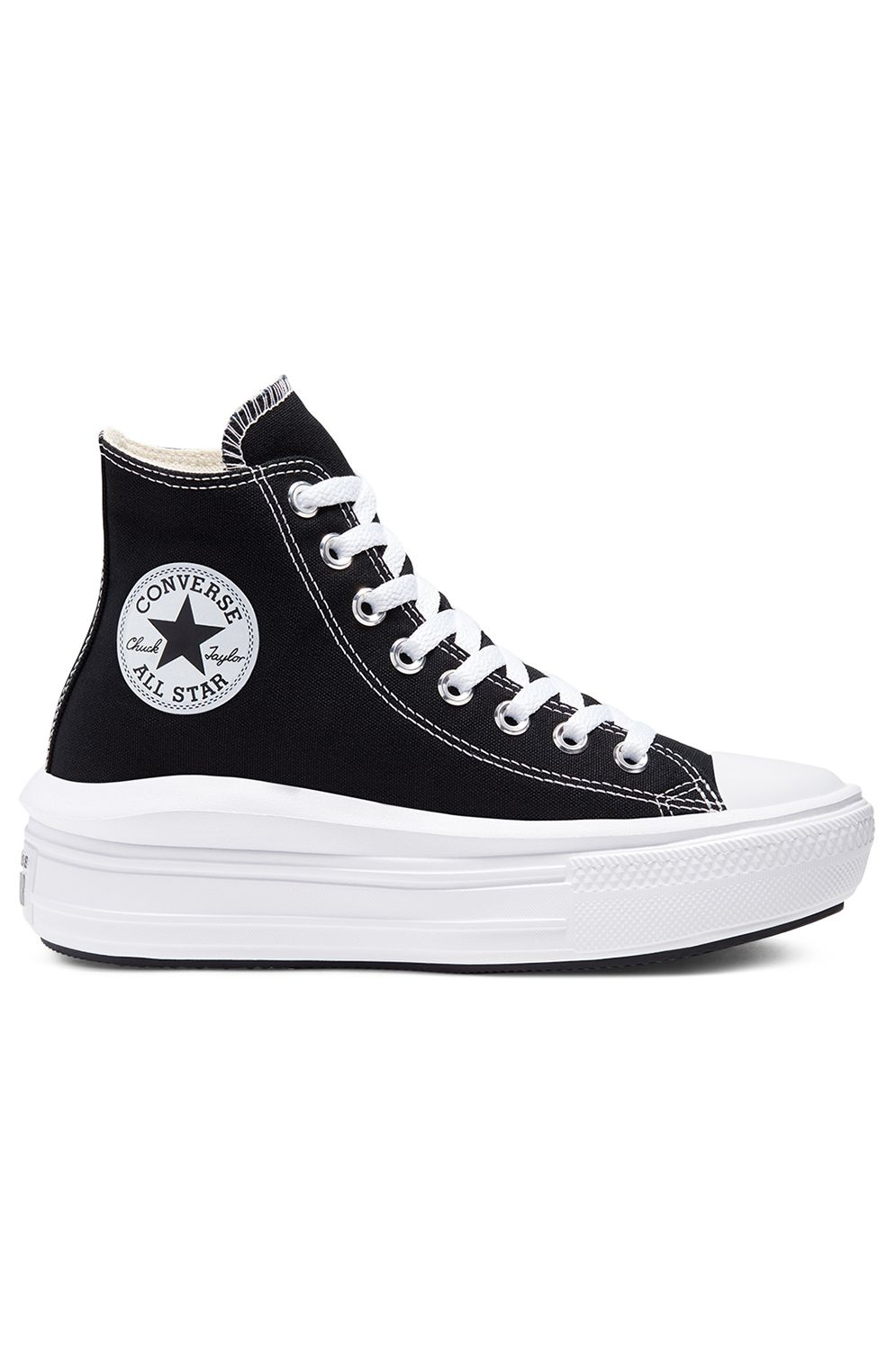 Converse Shoes CHUCK TAYLOR ALL STAR MOVE HI Black/Natural Ivory/White