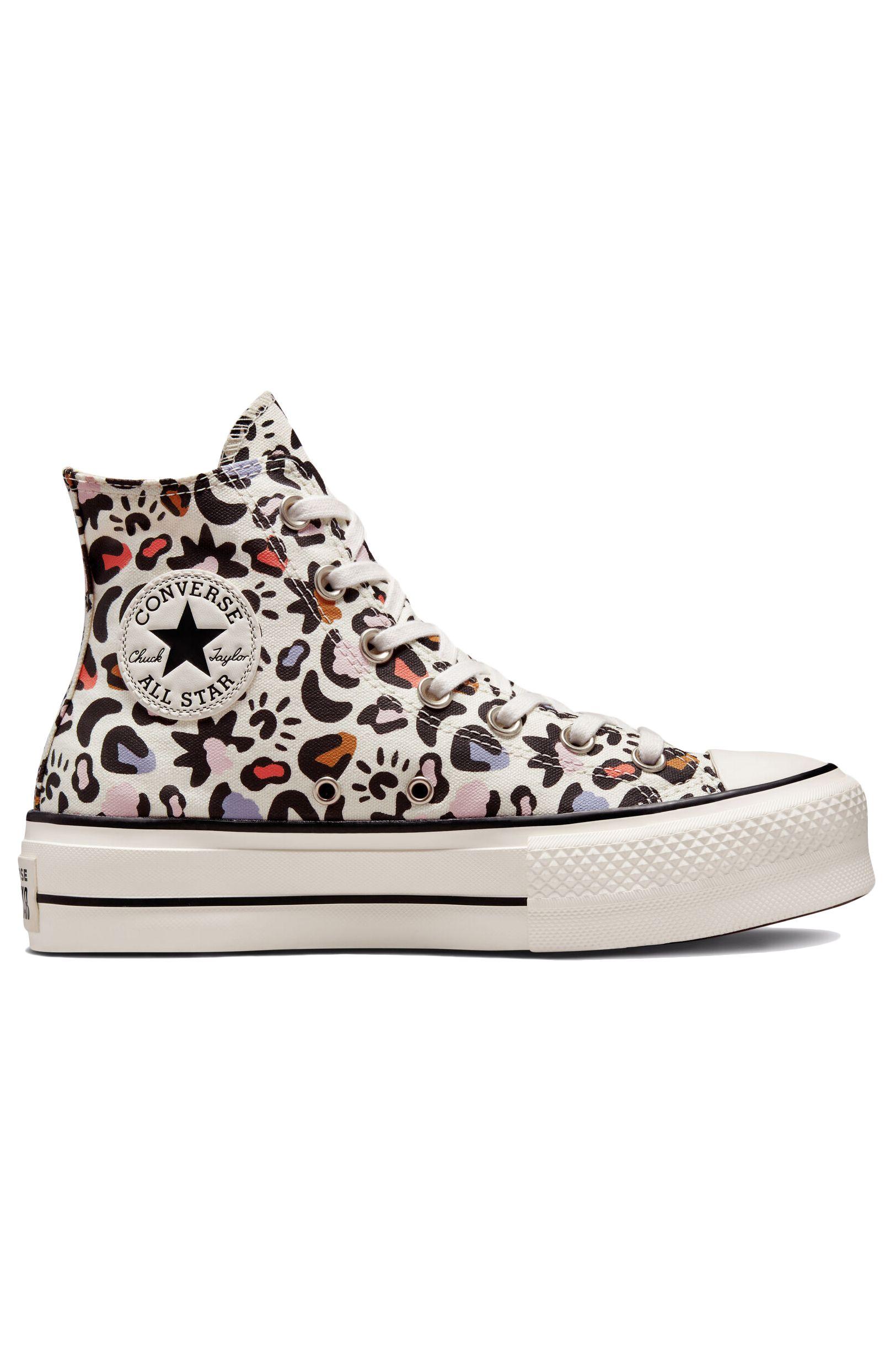 Converse Shoes CHUCK TAYLOR ALL STAR LIFT HI Egret/Multi/Black