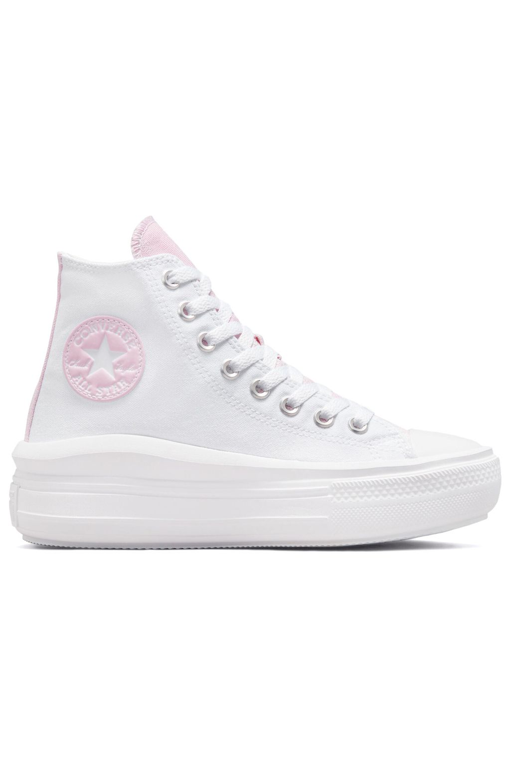 Converse Shoes CHUCK TAYLOR ALL STAR MOVE HI White/Pink Foam/White