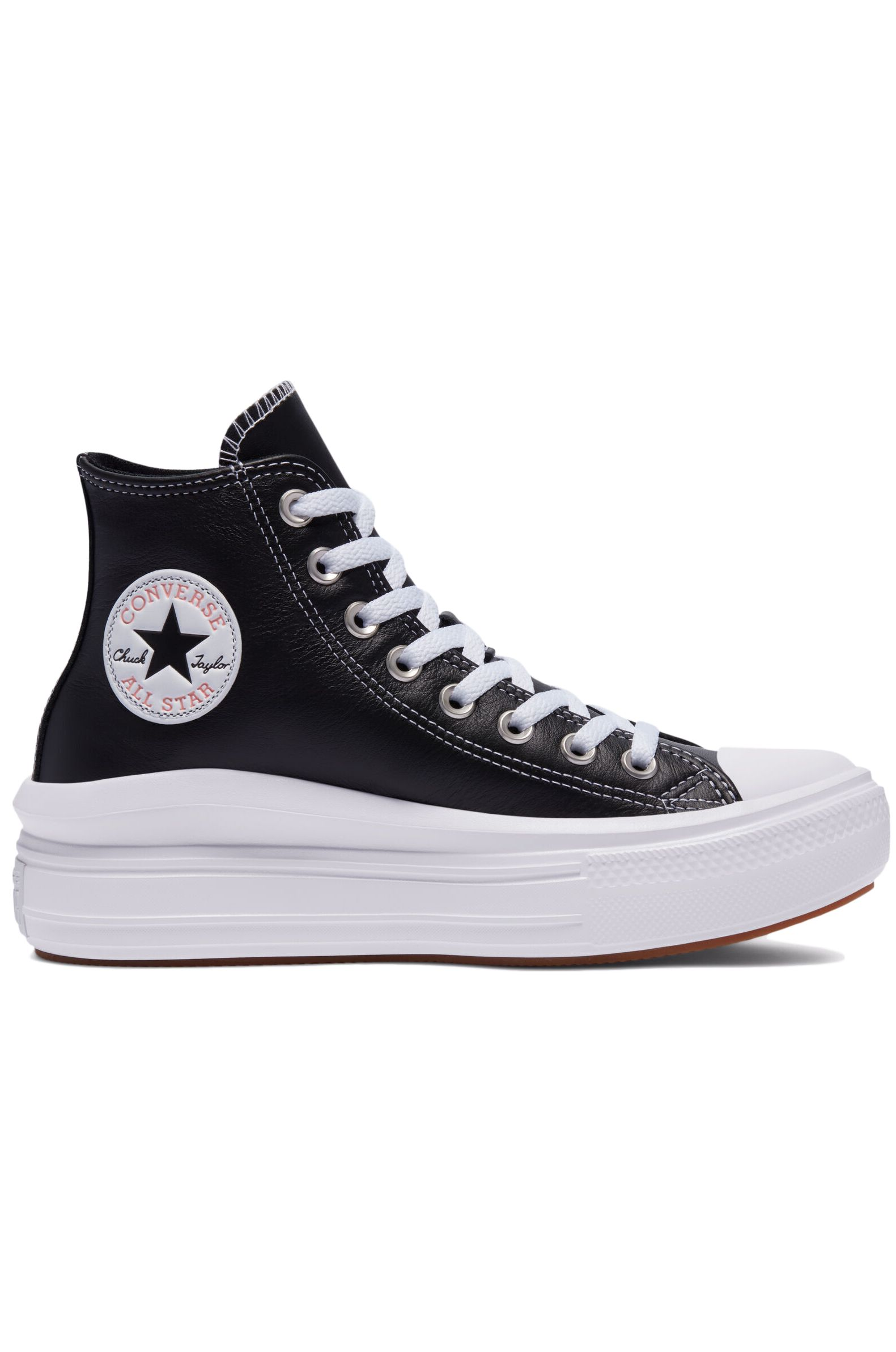 Converse Shoes CHUCK TAYLOR ALL STAR MOVE HI Black/White/Pink Quartz