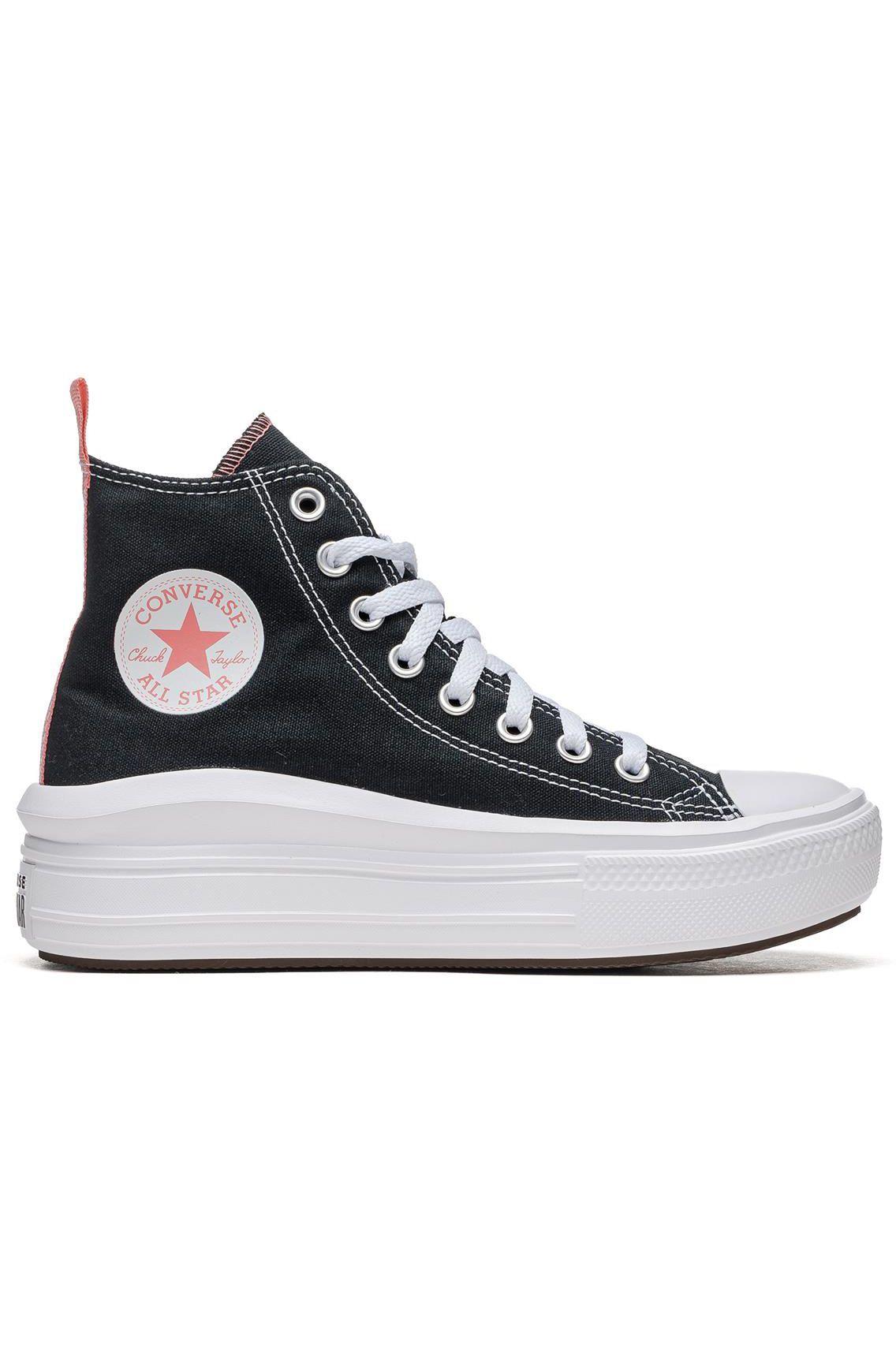 Tenis Converse CHUCK TAYLOR ALL STAR MOVE HI Black/Pink Salt/White