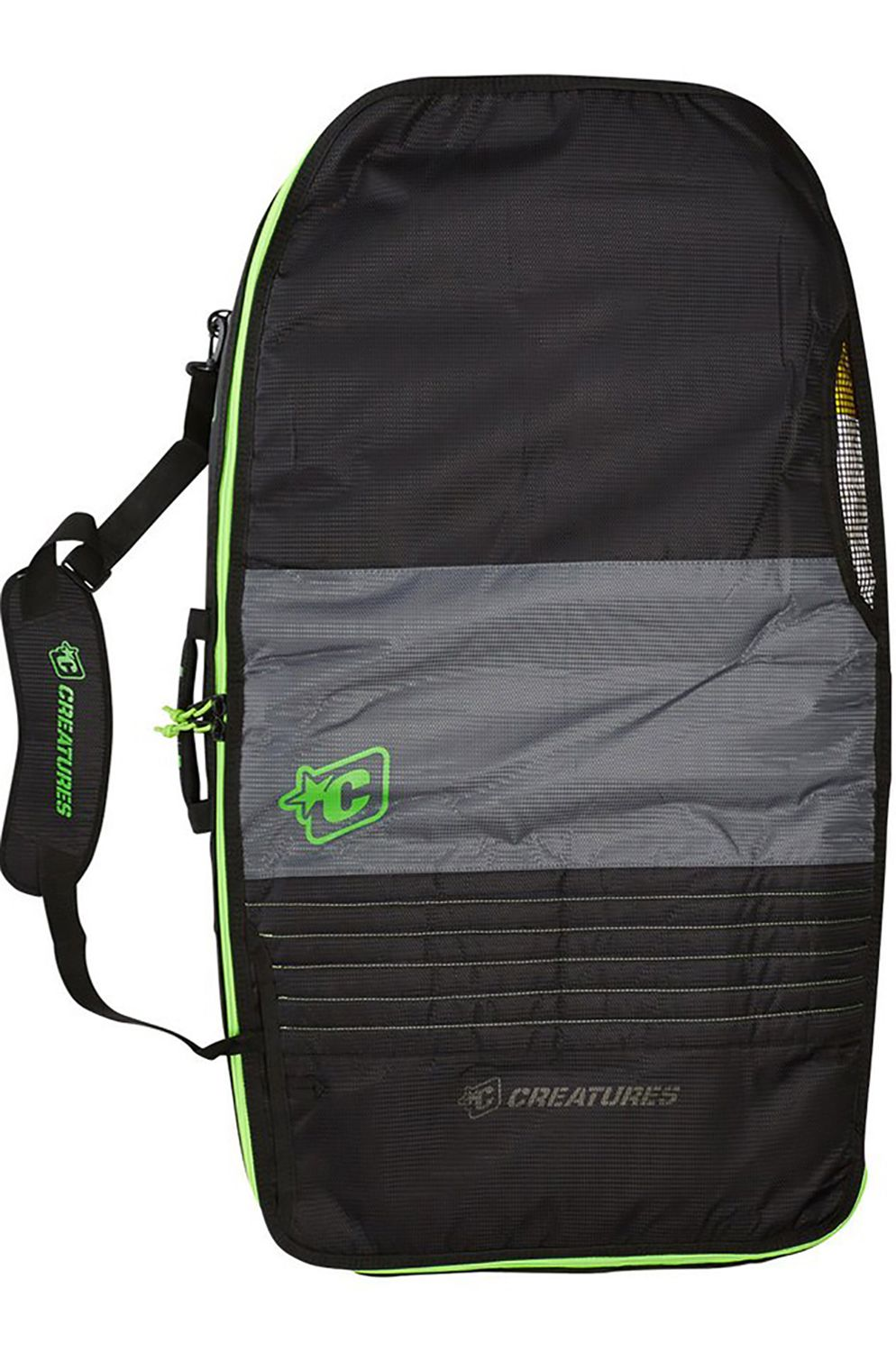 Capa Creatures BODYBOARD DOUBLE CASE 10MM Charcoal Lime
