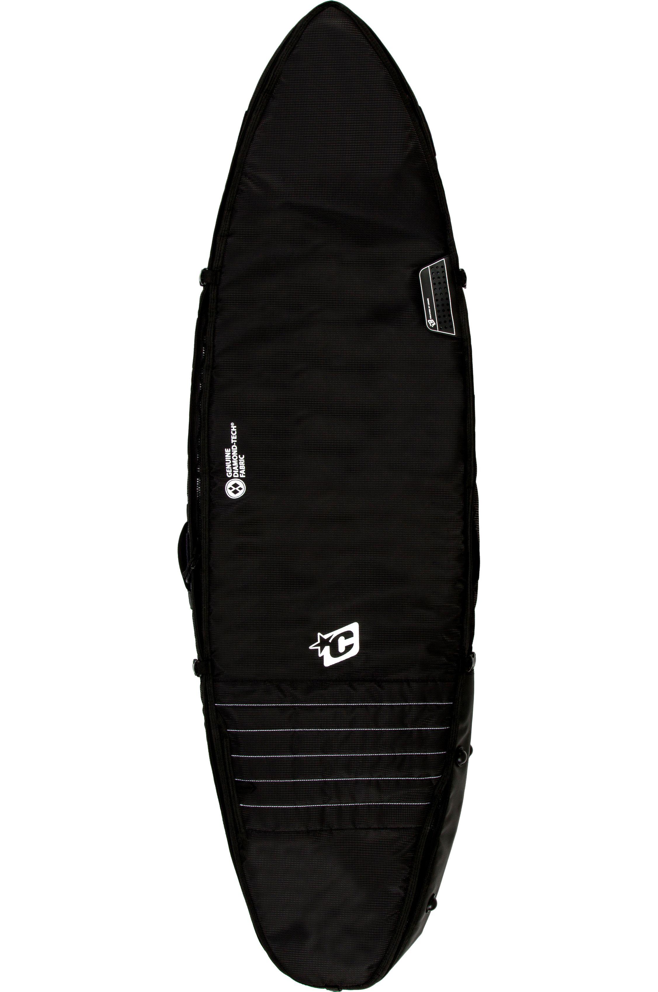 Capa Creatures 6'3 SHORTBOARD TRIPLE Black White