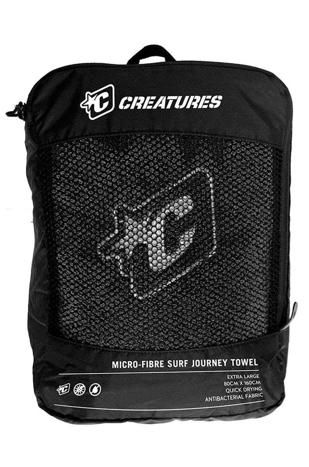 Toalha Creatures JOURNEY Charcoal
