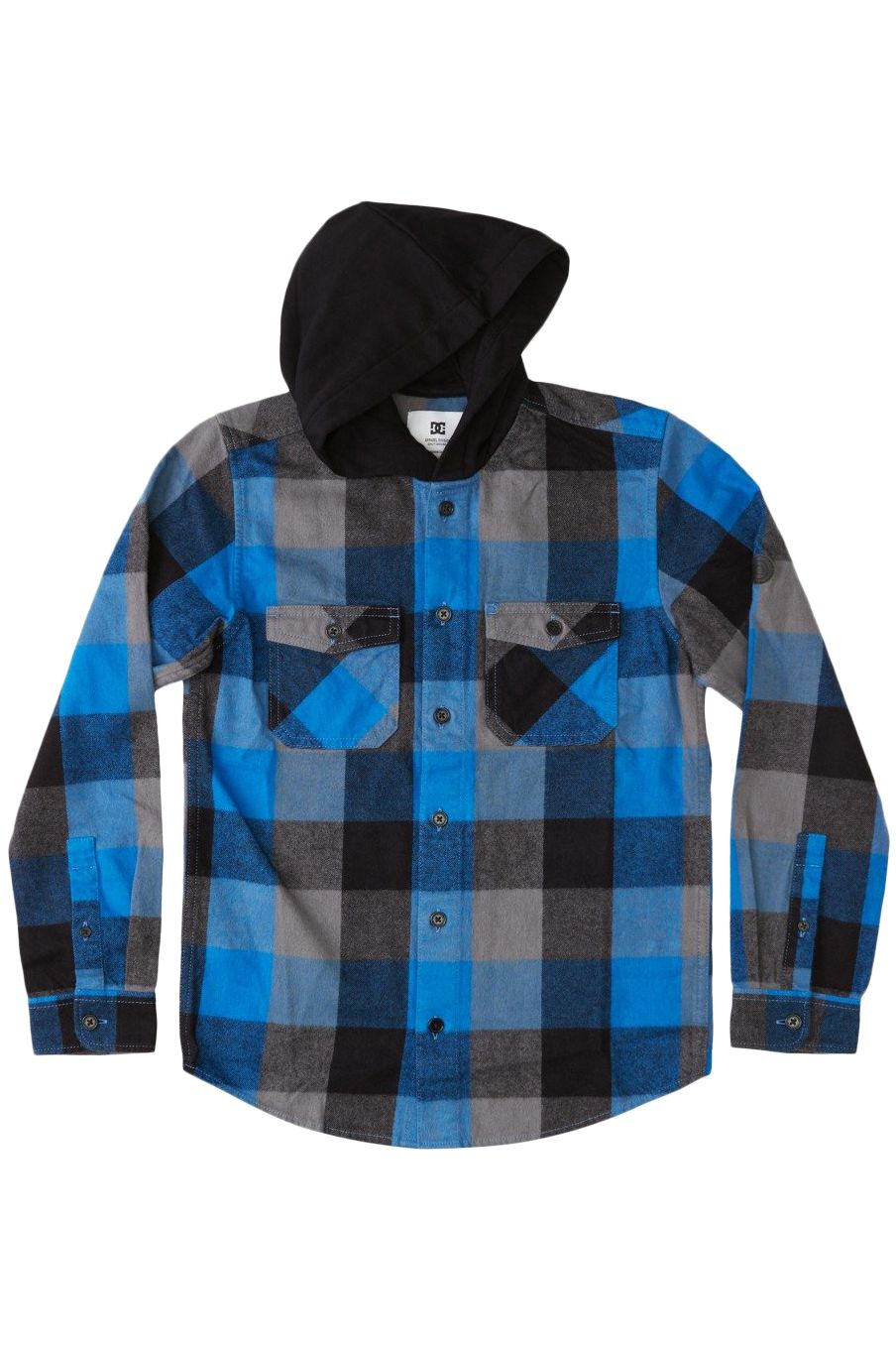 Camisa DC Shoes RUCKUS HOODED FLANNEL BOY Turkish Sea Check