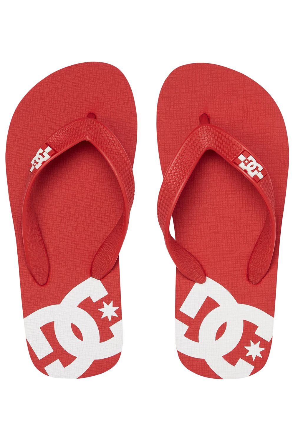 Chinelos DC Shoes SPRAY Red/White