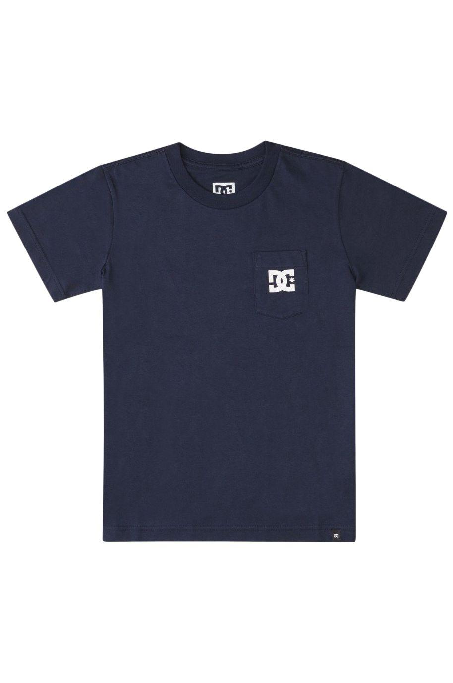 T-Shirt DC Shoes DC STAR POCKET SS BOY Navy Blazer