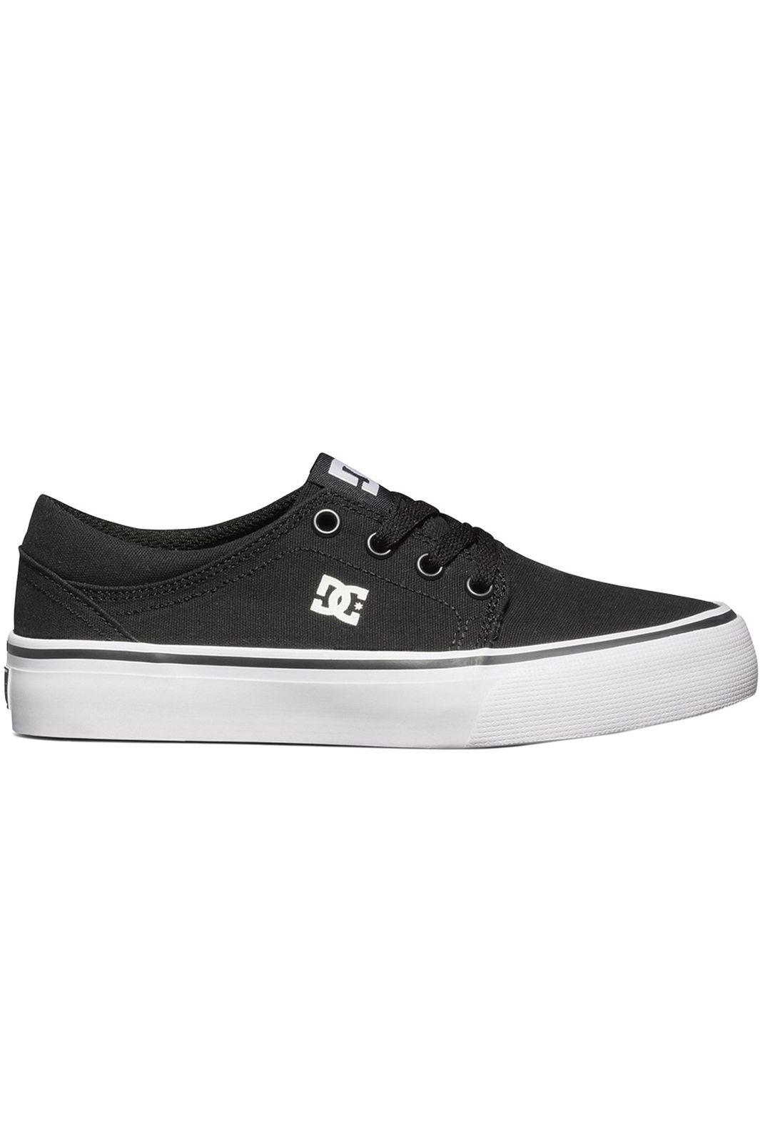 9c35765cd7ed9 Tenis DC Shoes TRASE TX Black White