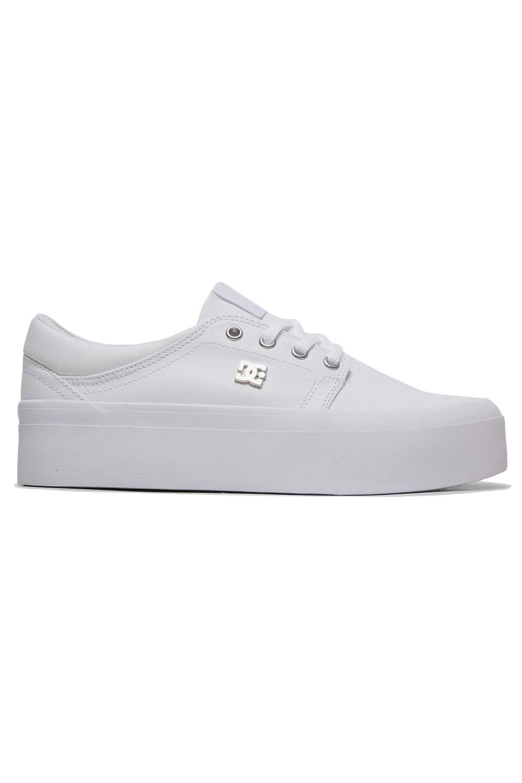 Tenis DC Shoes TRASE PLATFORM TX SE White/Silver