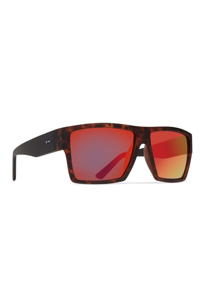 Oculos Dot Dash NILLIONAIRE Dark Tort Black Satin / Red Chrome