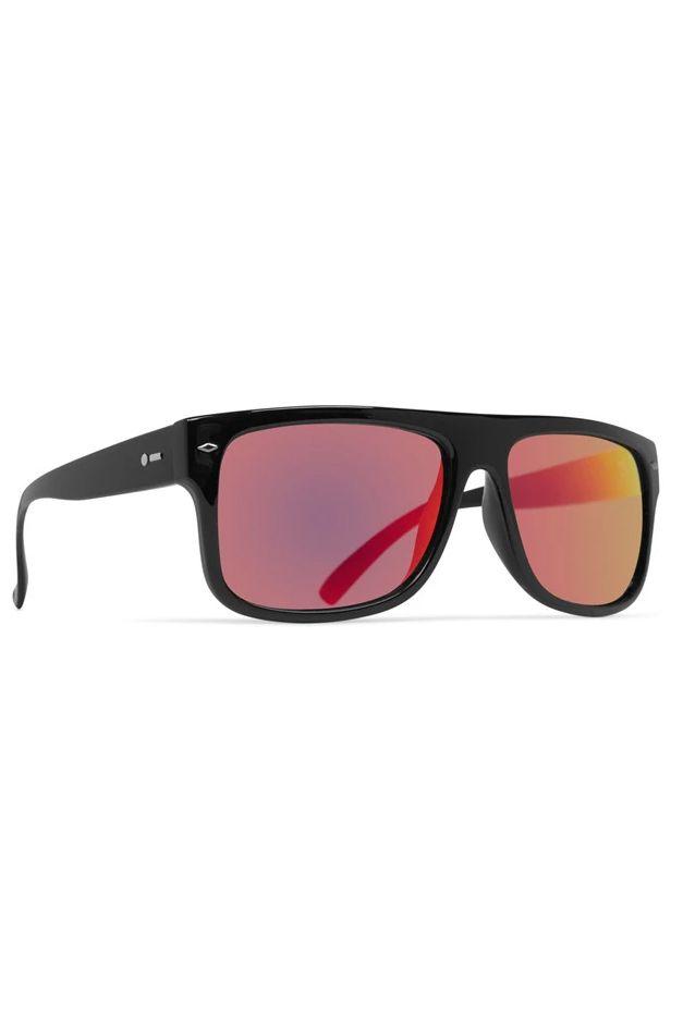 Oculos Dot Dash SIDECAR Black Gloss / Red Chrome