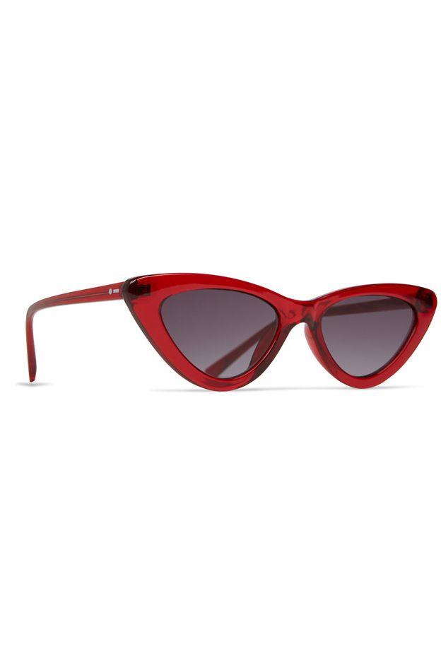 Oculos Dot Dash FABULIST Transluscent Red / Grey Gradient