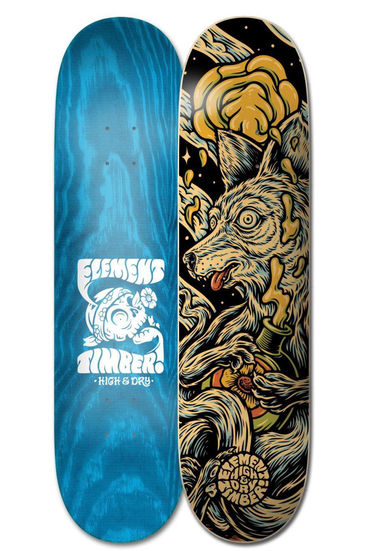 "Element Skate Board 8.38"" TIMBER HIGH DR Assorted"