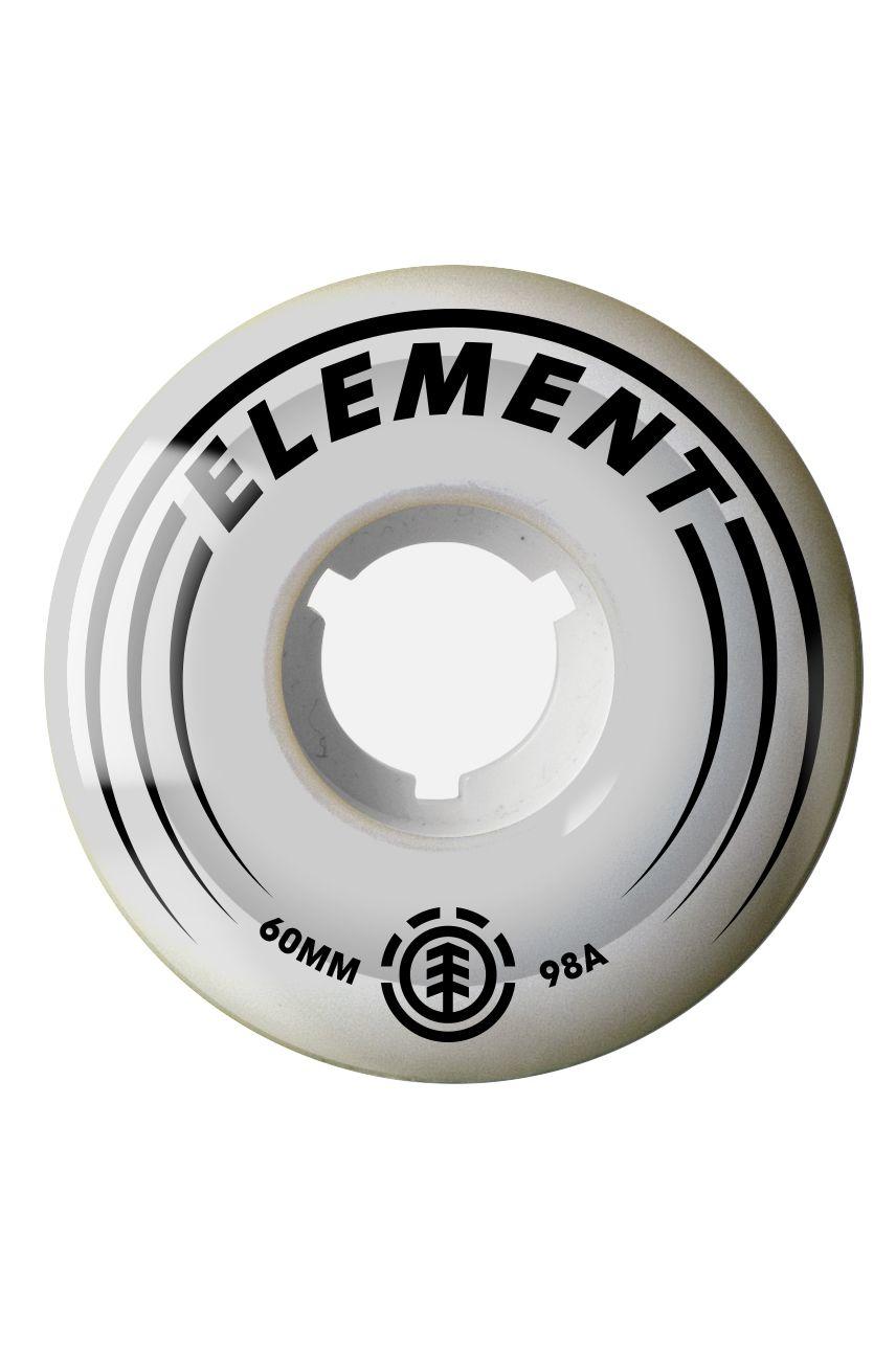 Element Skate Wheels 60MM FILMER White