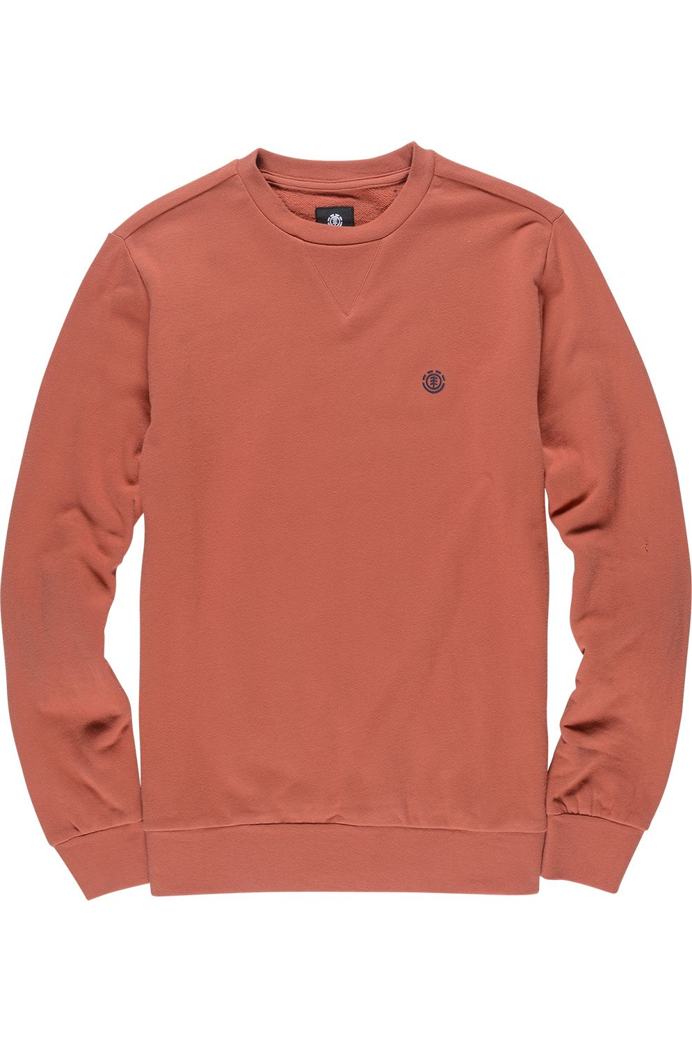 Element Crew Sweat CORNELL FRENCH TERRY SEASONAL COLLECTION Etruscan Red