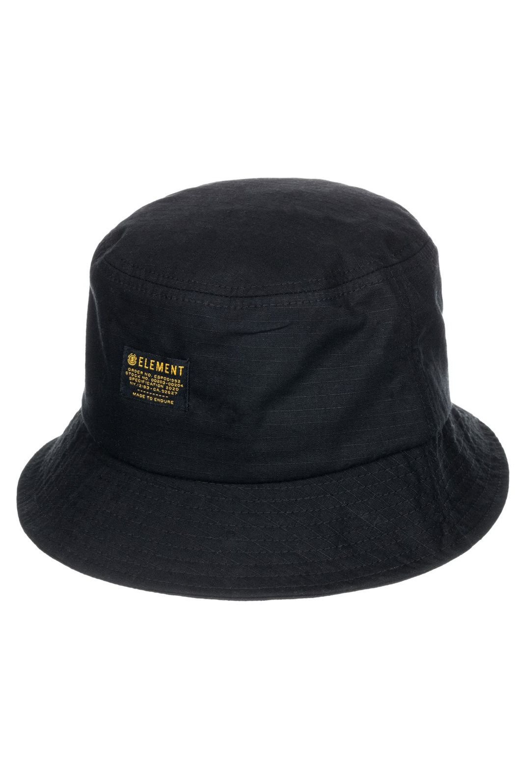 Chapeu Element EAGER BUCKET HAT Flint Black