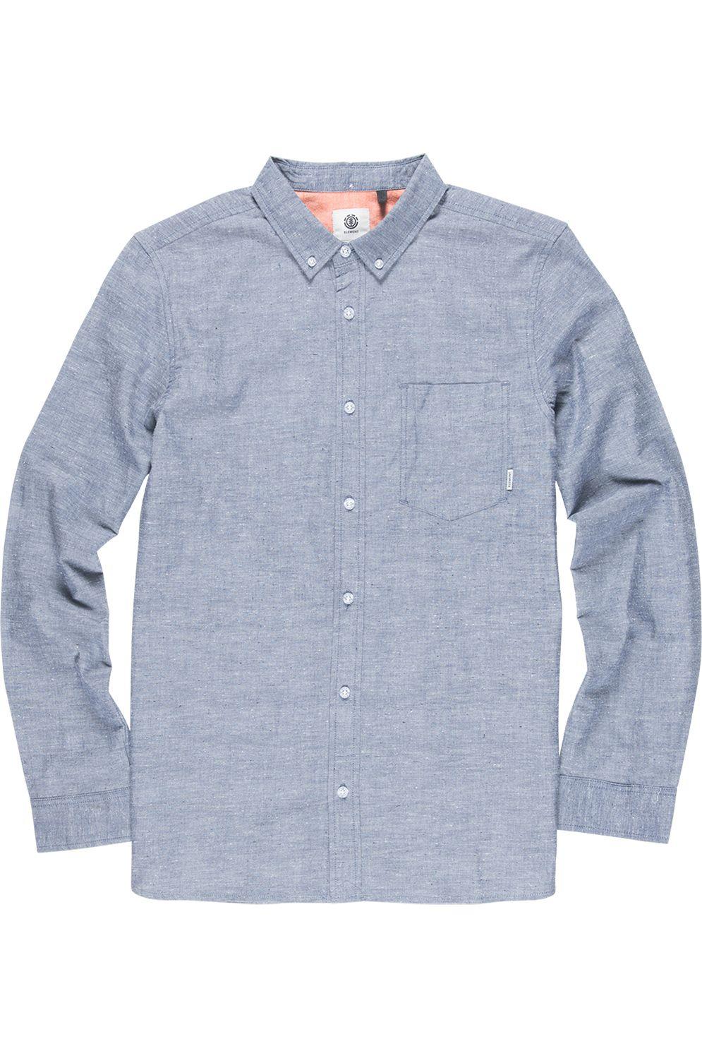 Element Shirt GREENE NEPS LS FOUNDATION Navy