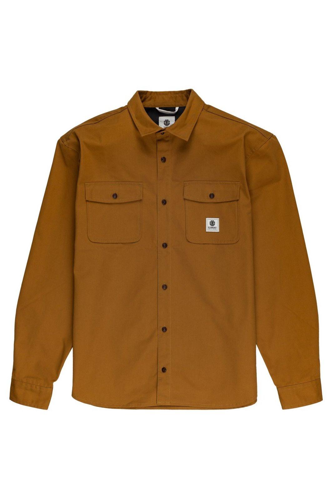 Element Shirt BUILDER LS REPREVE Gold Brown