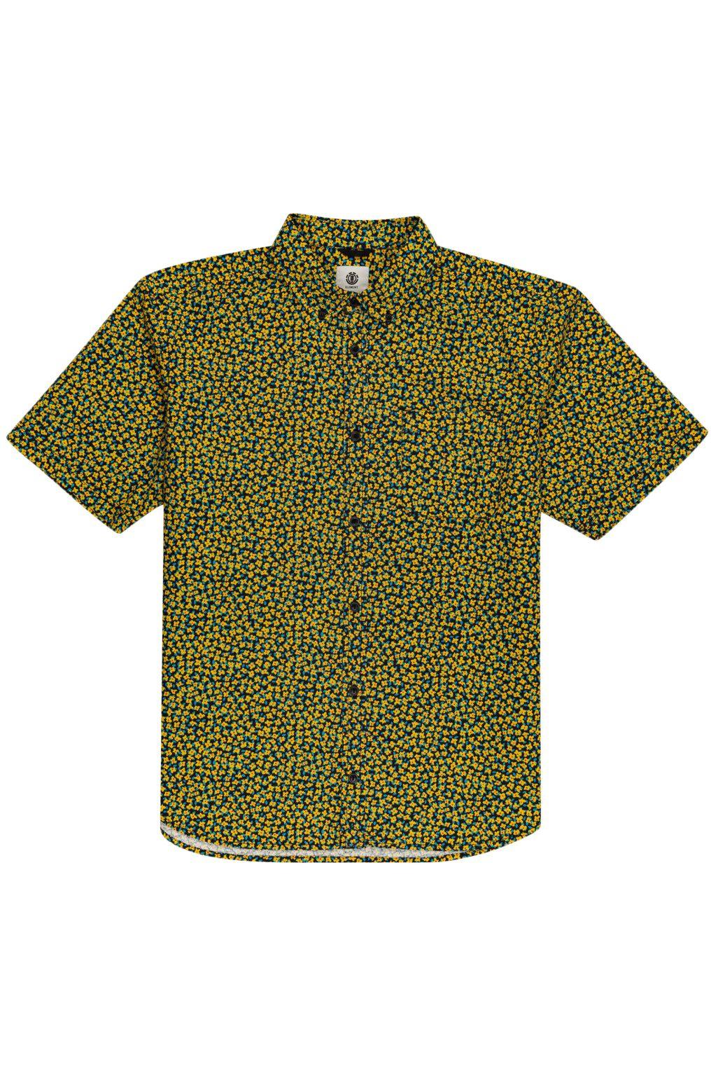 Element Shirt MEADOW SS Yellow Wildflower