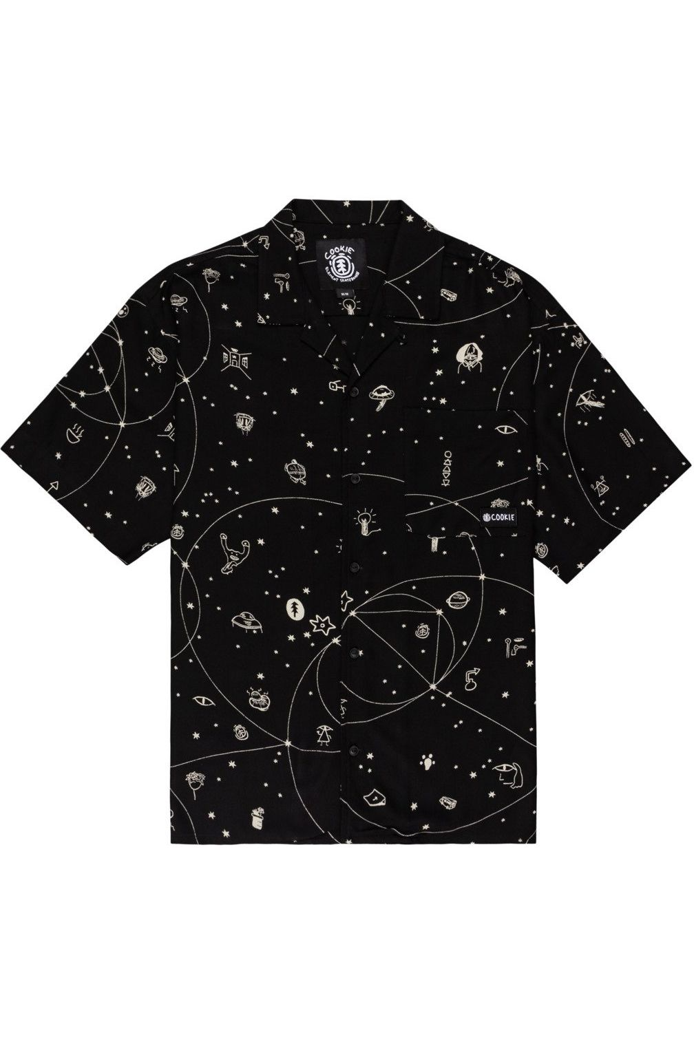 Element Shirt LOOK UP SS 92 GALAXY PACK Galaxy