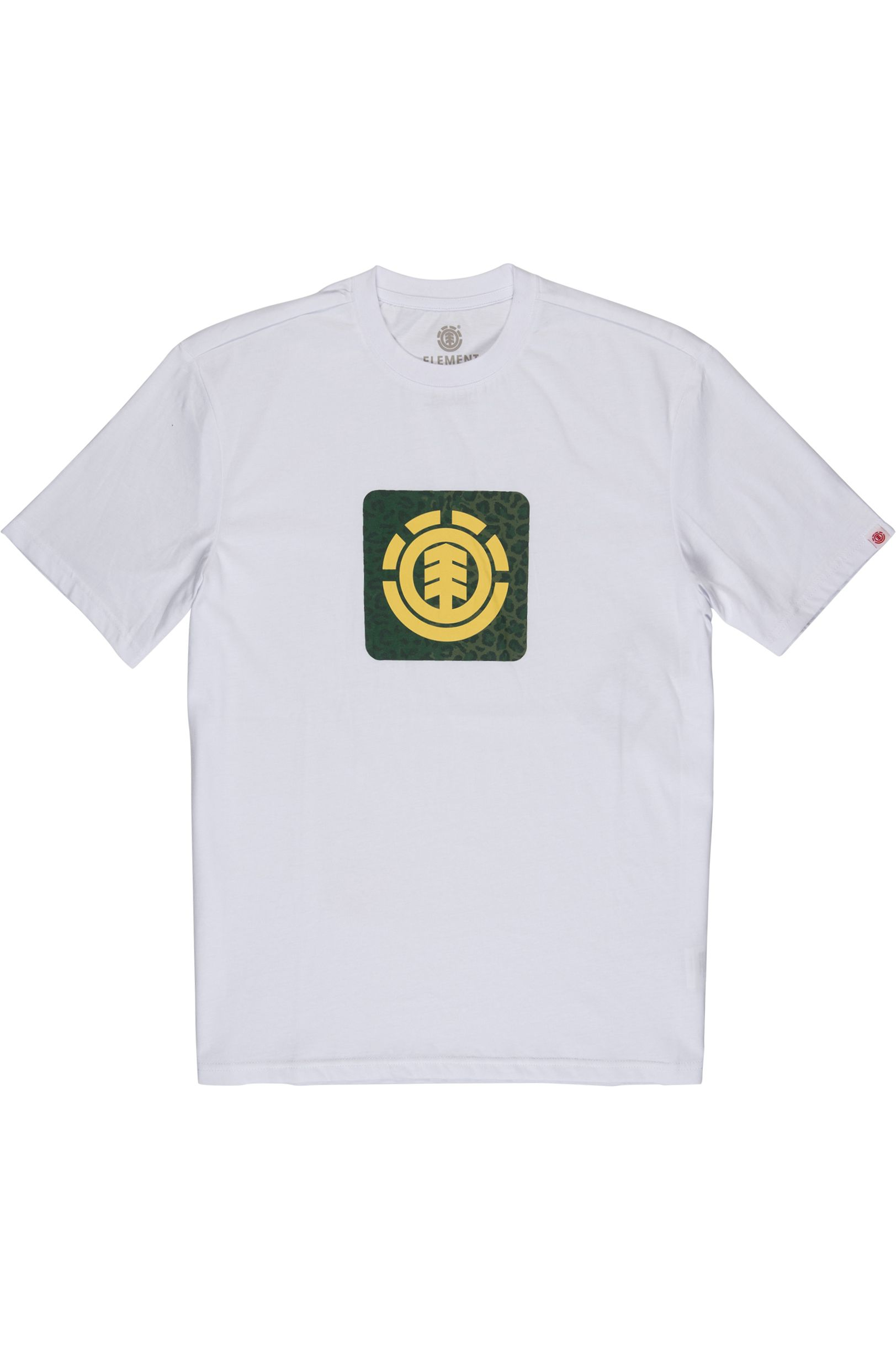 Element T-Shirt LEOPARD BLOCK ICON Optic White