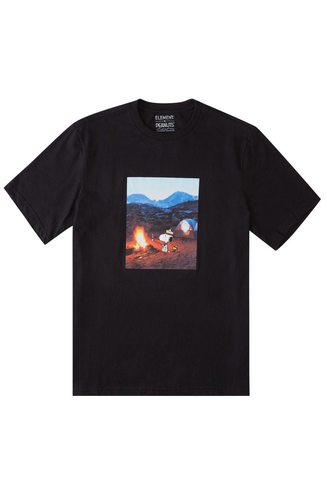 Element T-Shirt PEANUTS ADVENTURE SS PEANUTS Flint Black