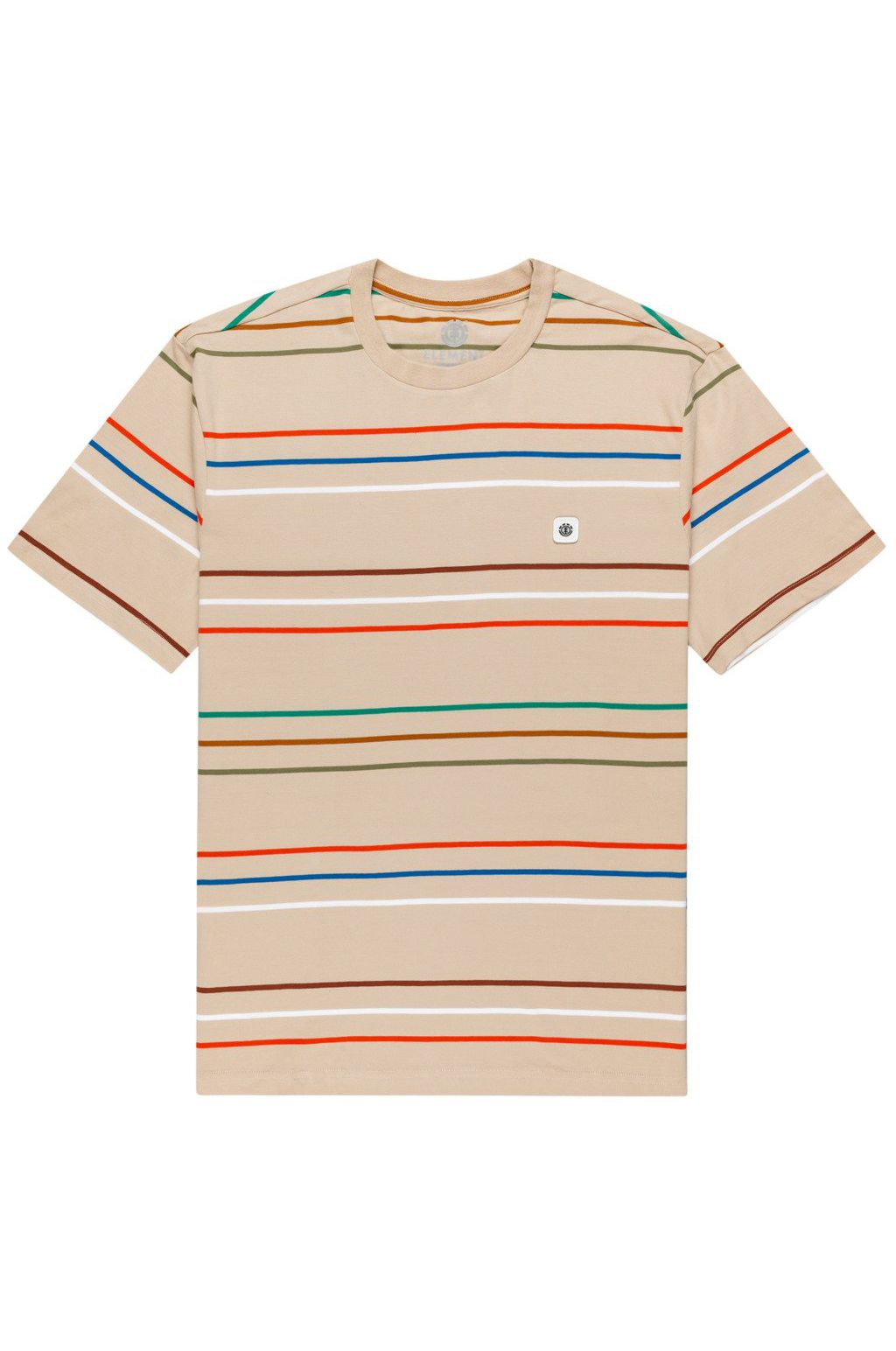 Element T-Shirt HOVDEN STRIPES SS Oxford Tan