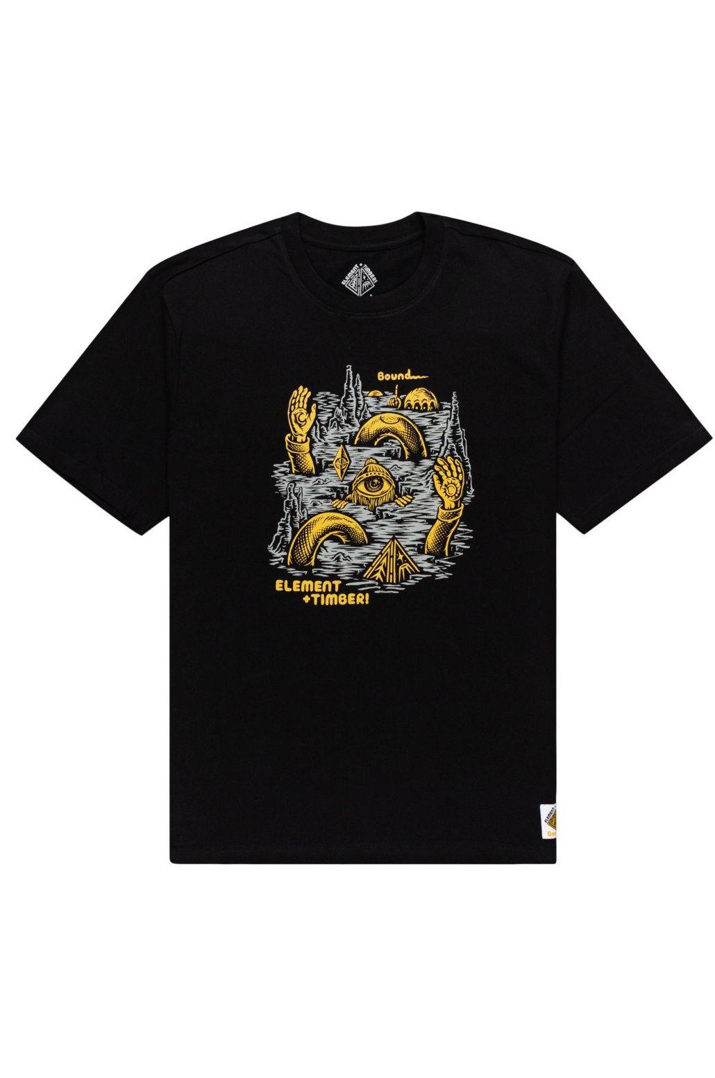 Element T-Shirt CRACKS SS TIMBER COLLECTION Flint Black