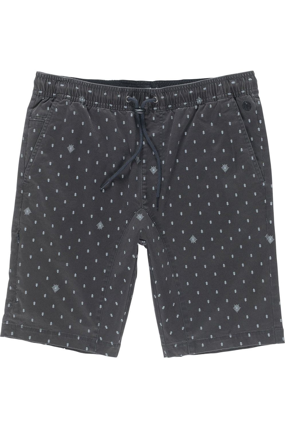 Walkshorts Element ALTONA PRINT SEASONAL COLLECTION Off Black